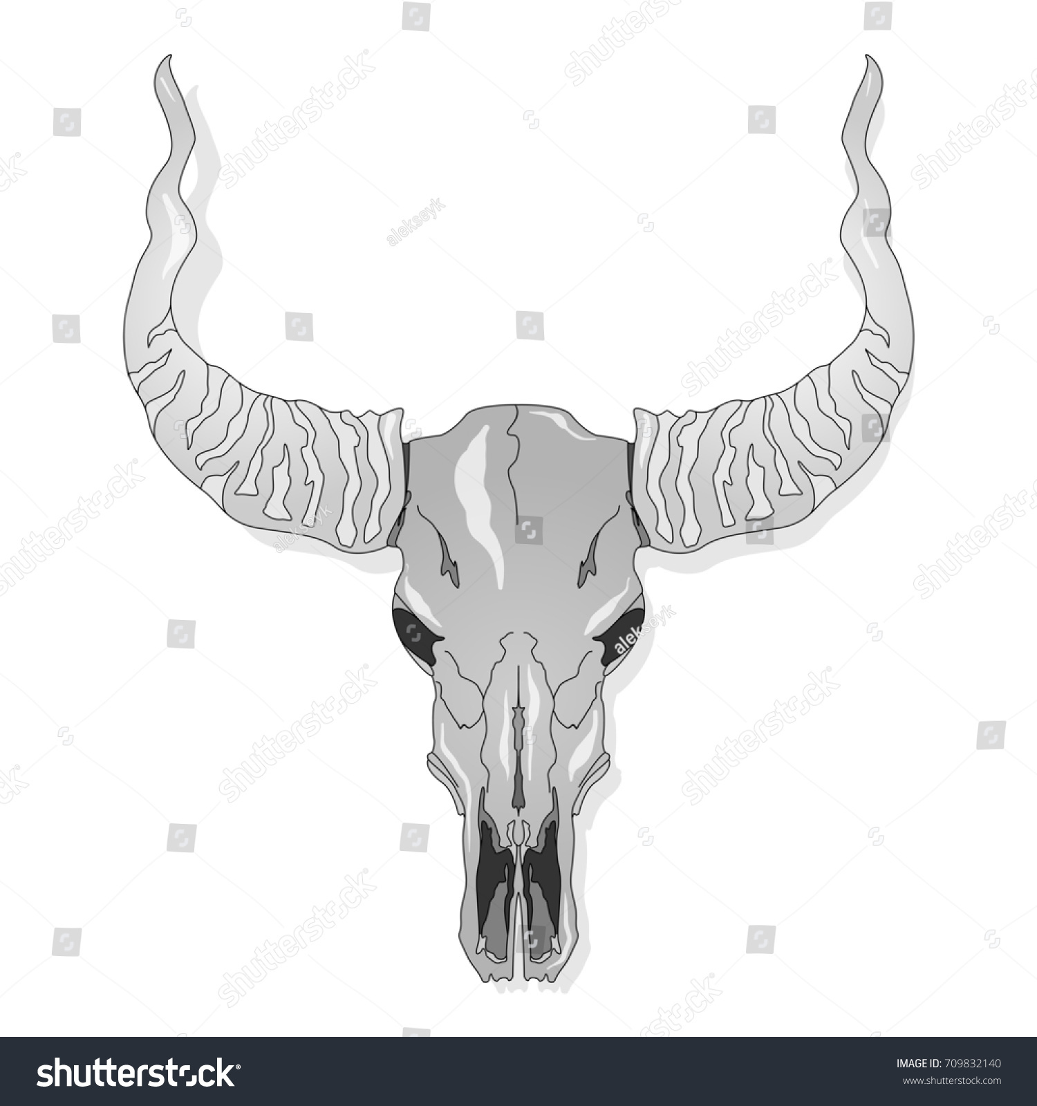 Skull Hand Drawn Illustration Isolated For Tattoo Or T Shirt