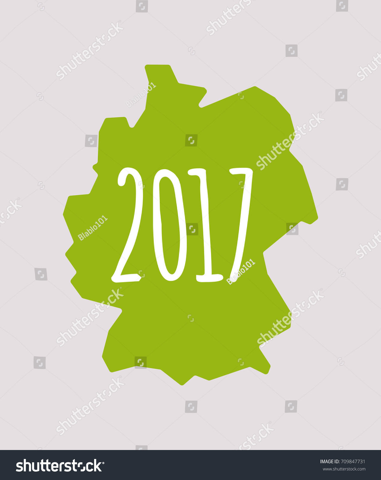 Illustration Isolated Germany Map Year Stock Vector - Germany map by year