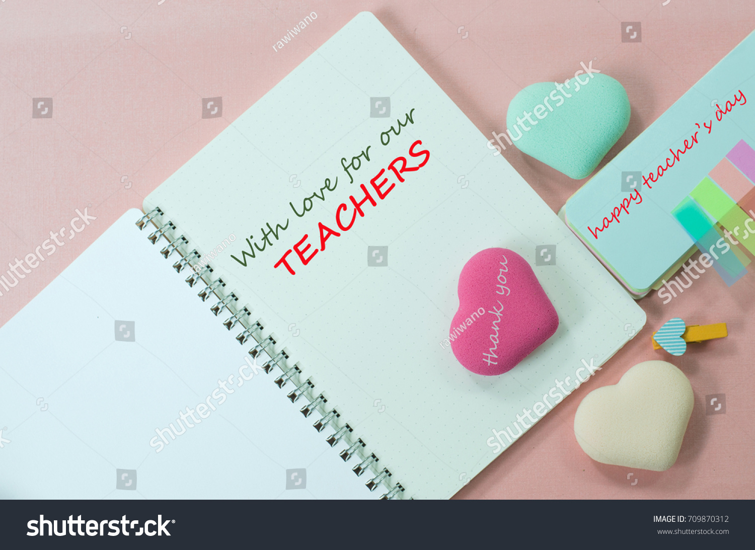 Simple Clean Greeting Words On Teachers Stock Photo Edit Now