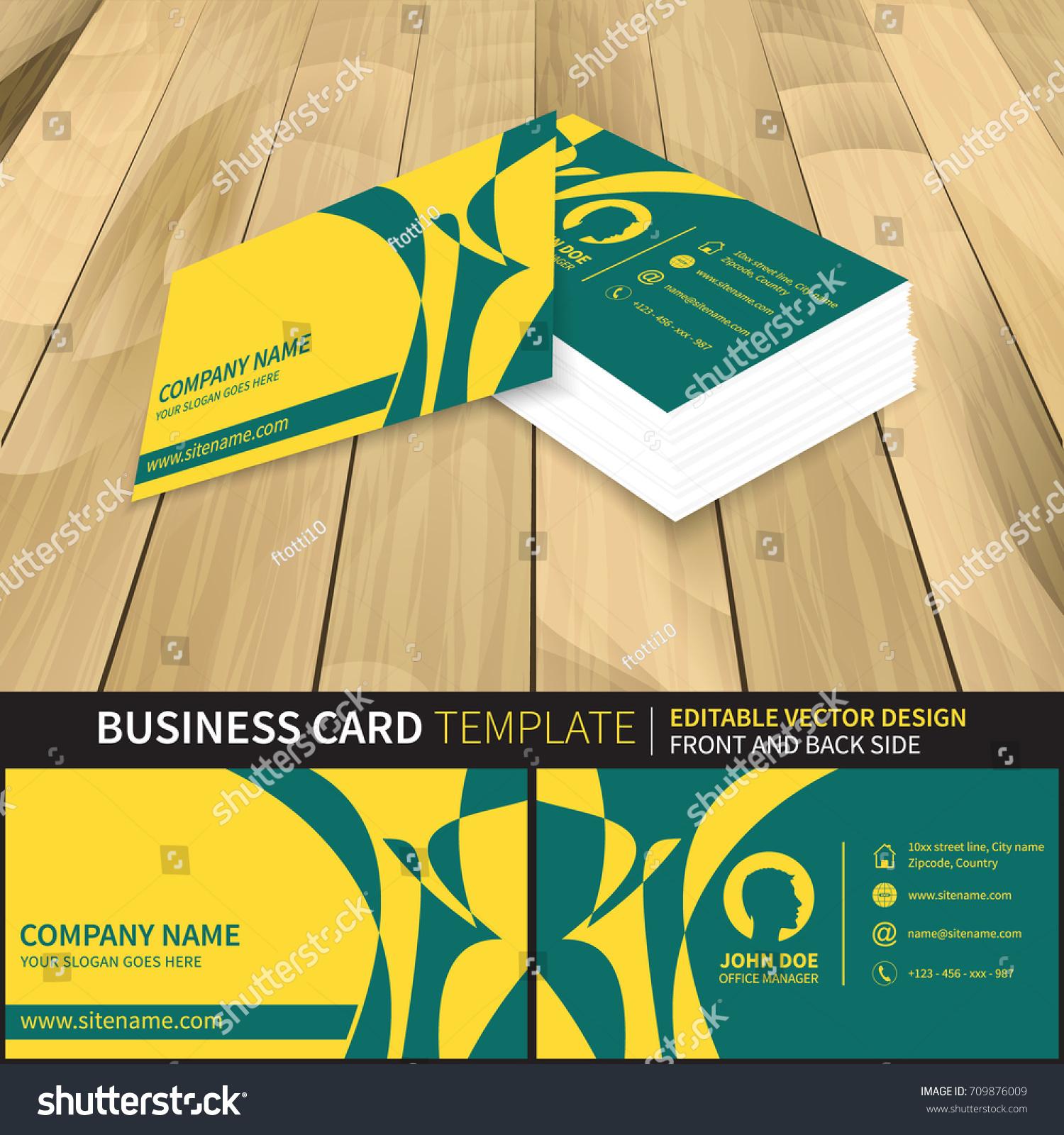 business card template creative vector mockup stock vector