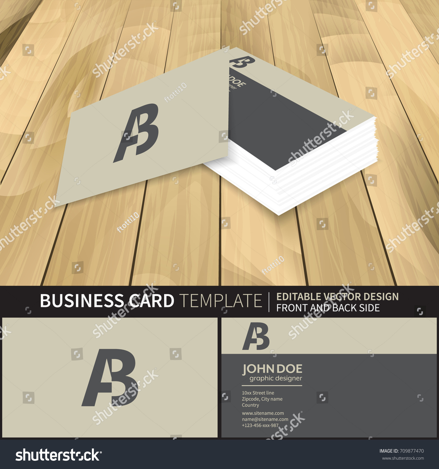 creative business card mockup template vector stock vector