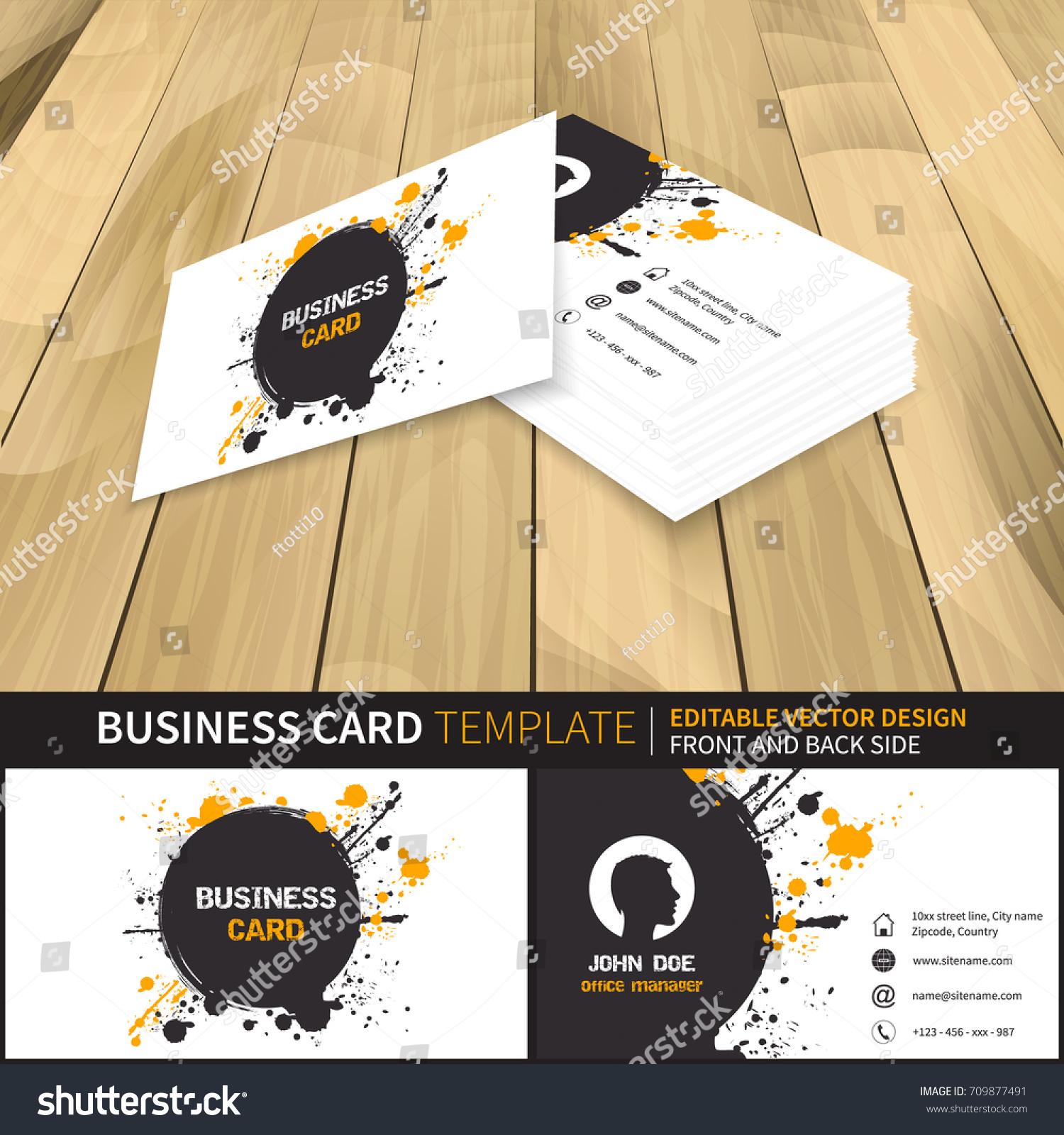 Business Card Template Creative Vector Mockup Stock Vector ...