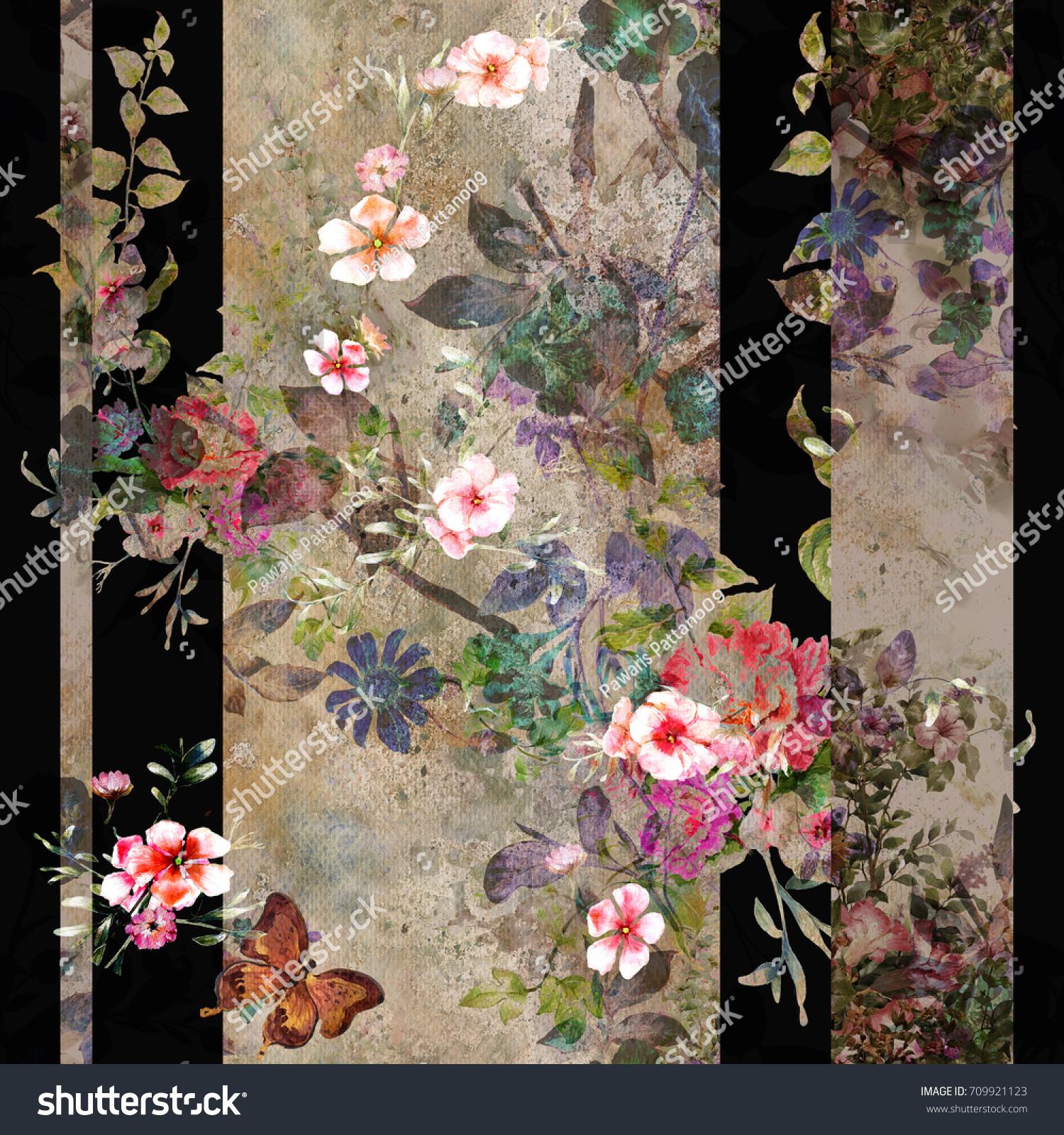 Dark Flowers Botanic Images Stock Photos Vectors Shutterstock