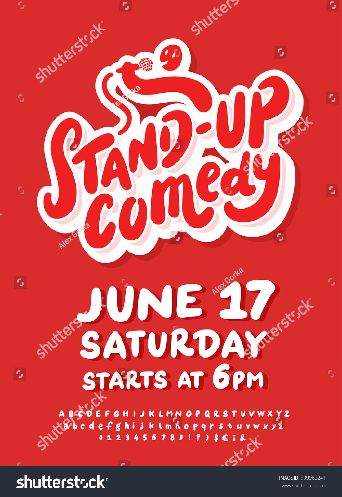 Stand Comedy Poster Template Stock Vector Royalty Free 709962241