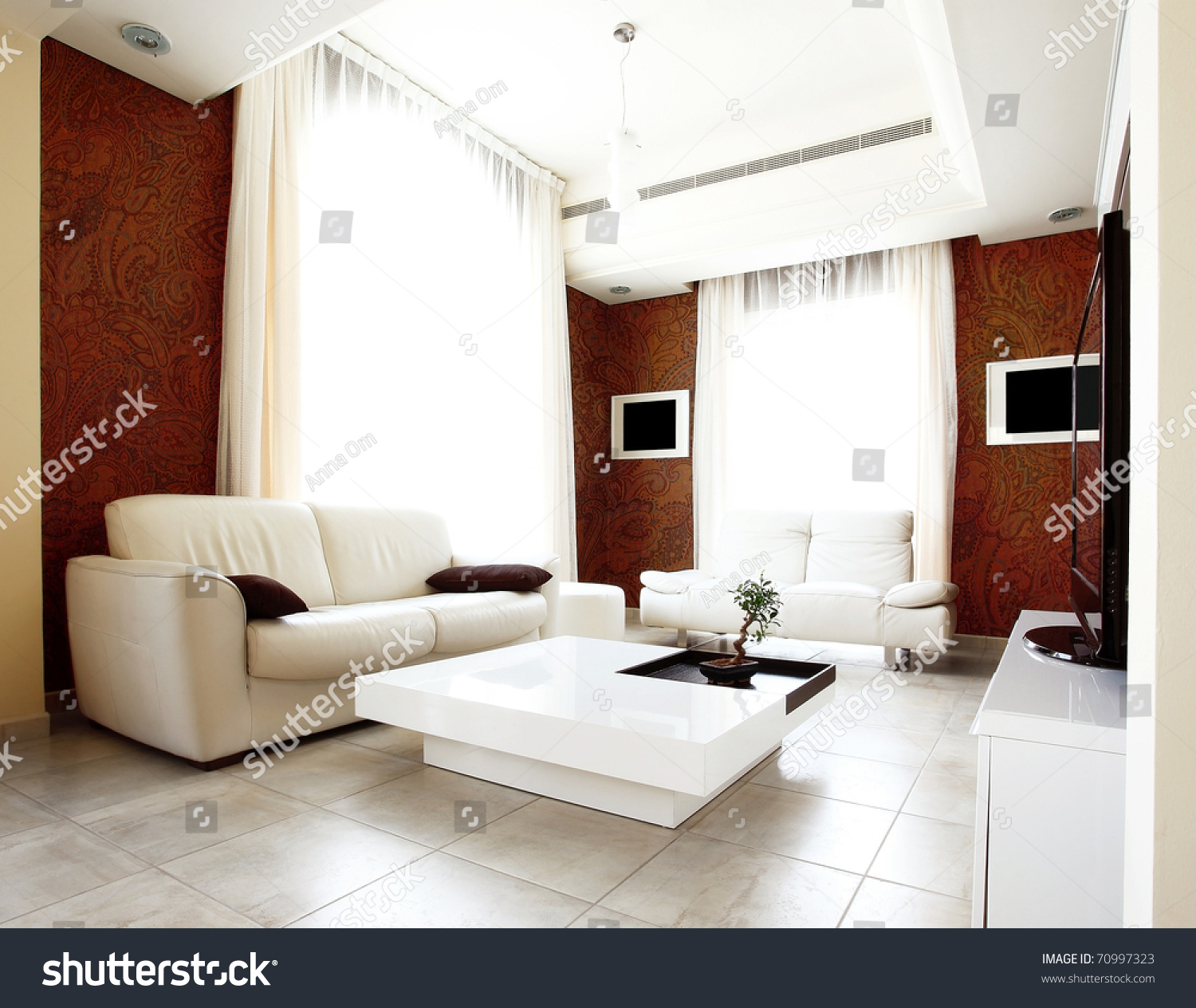 Luxury apartment stylish modern interior design stock for Modern luxury apartment design