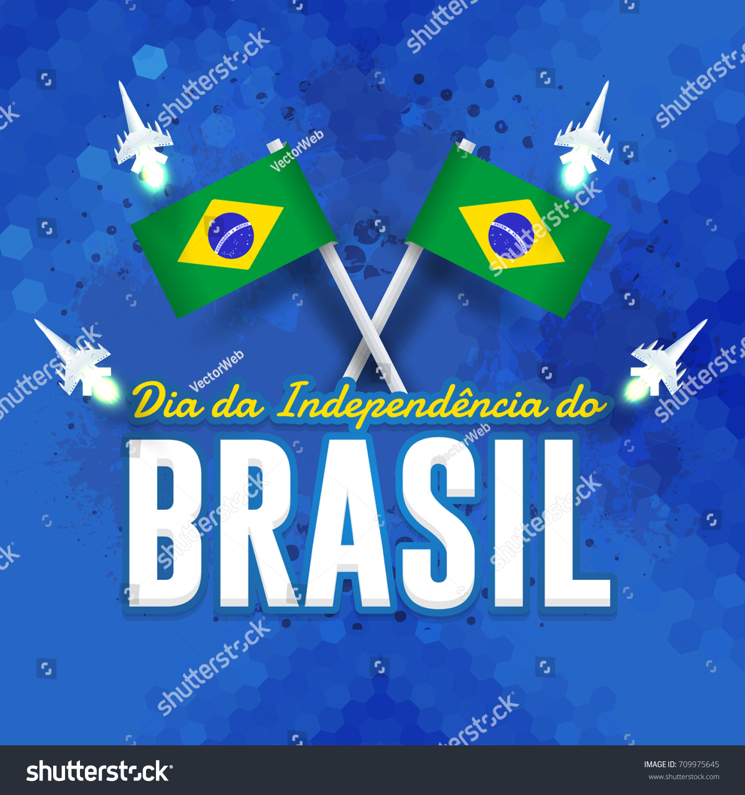 National greeting card design retro background stock vector national greeting card design retro background portuguese text independence day of brazil m4hsunfo