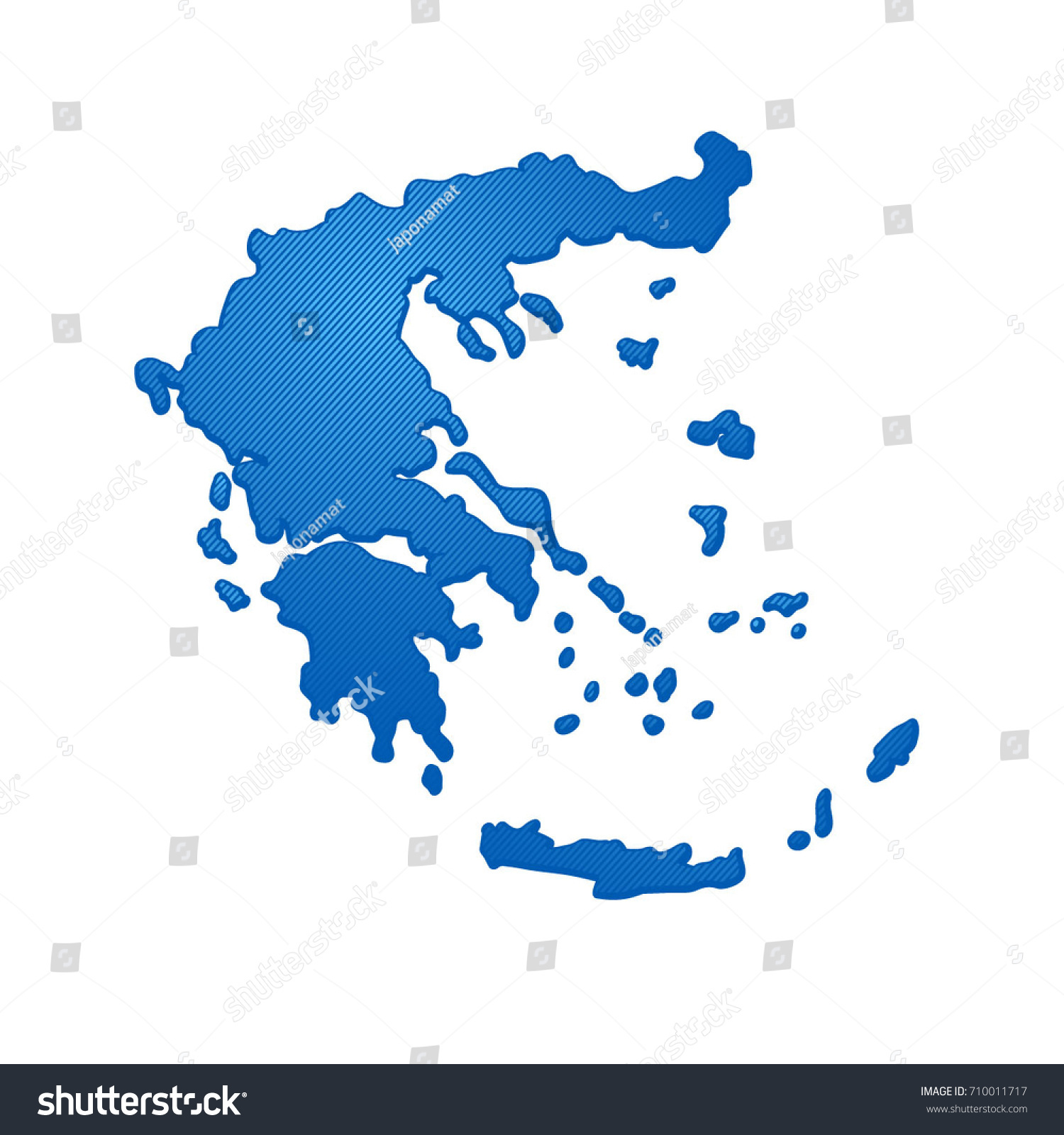 Simple Map Greece Stock Vector (Royalty Free) 710011717   Shutterstock