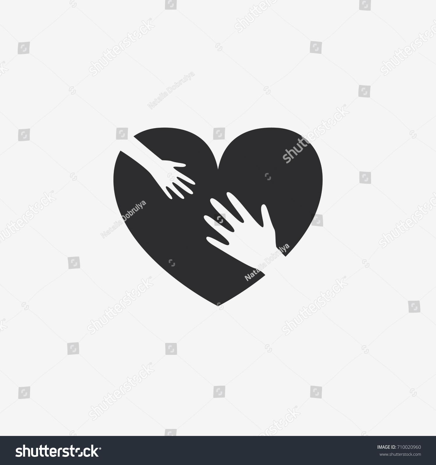Symbol love help children vector icon stock vector 710020960 a symbol of love and help to children vector icon biocorpaavc Images