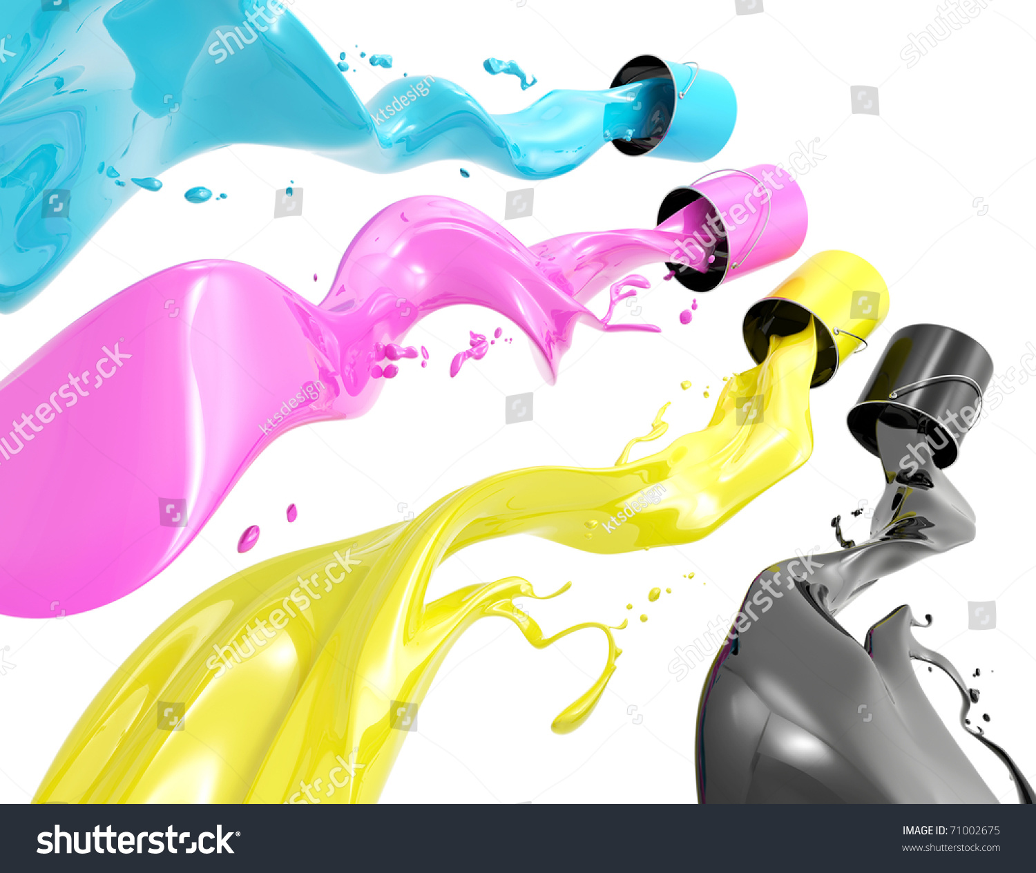 Color of art definition - Definition Of Cmyk Color System Four Colors In The Form Of Liquid On A White