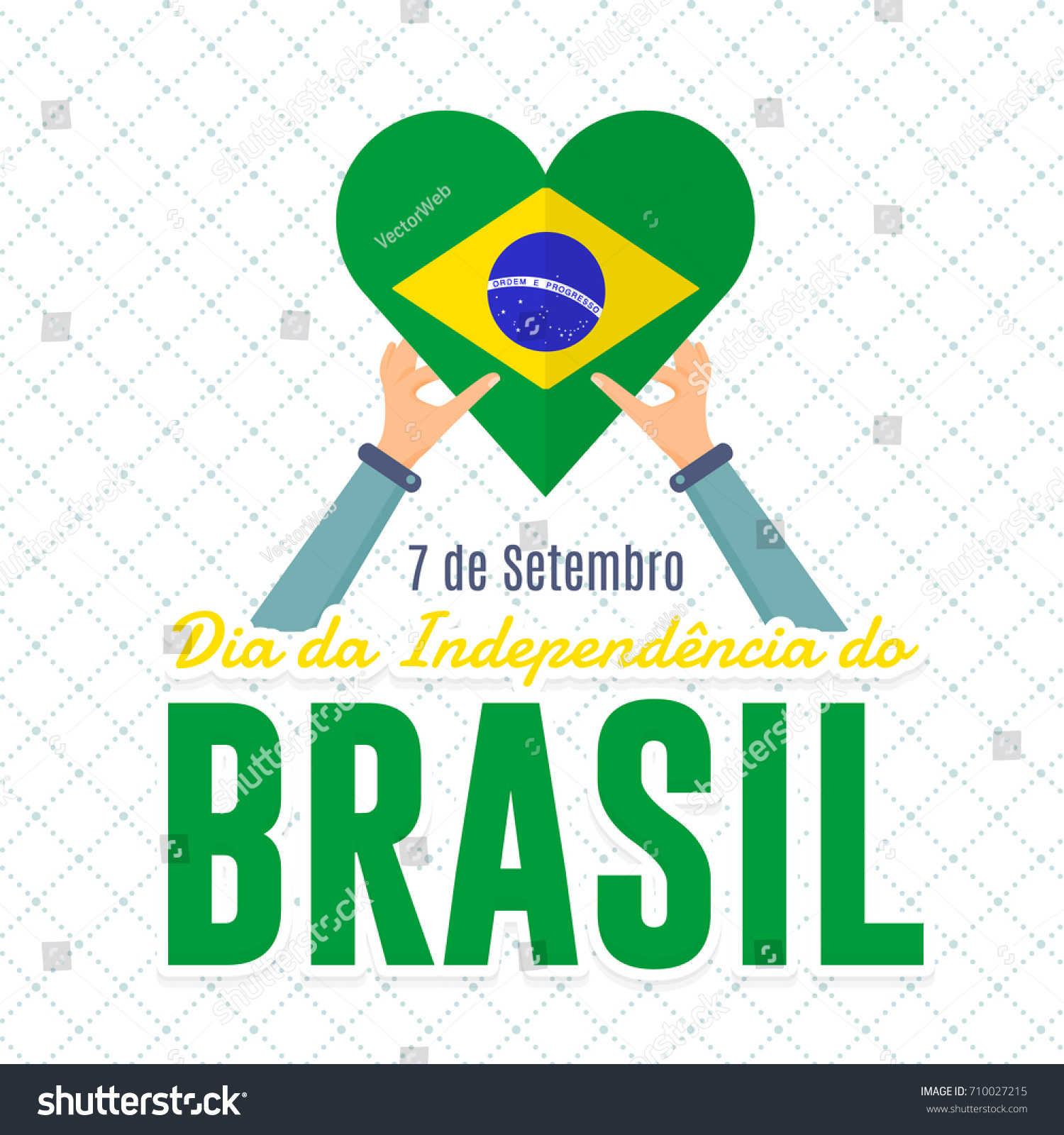 Flat style national greeting card design stock vector royalty free flat style national greeting card design portuguese text brazil september 7 independence m4hsunfo