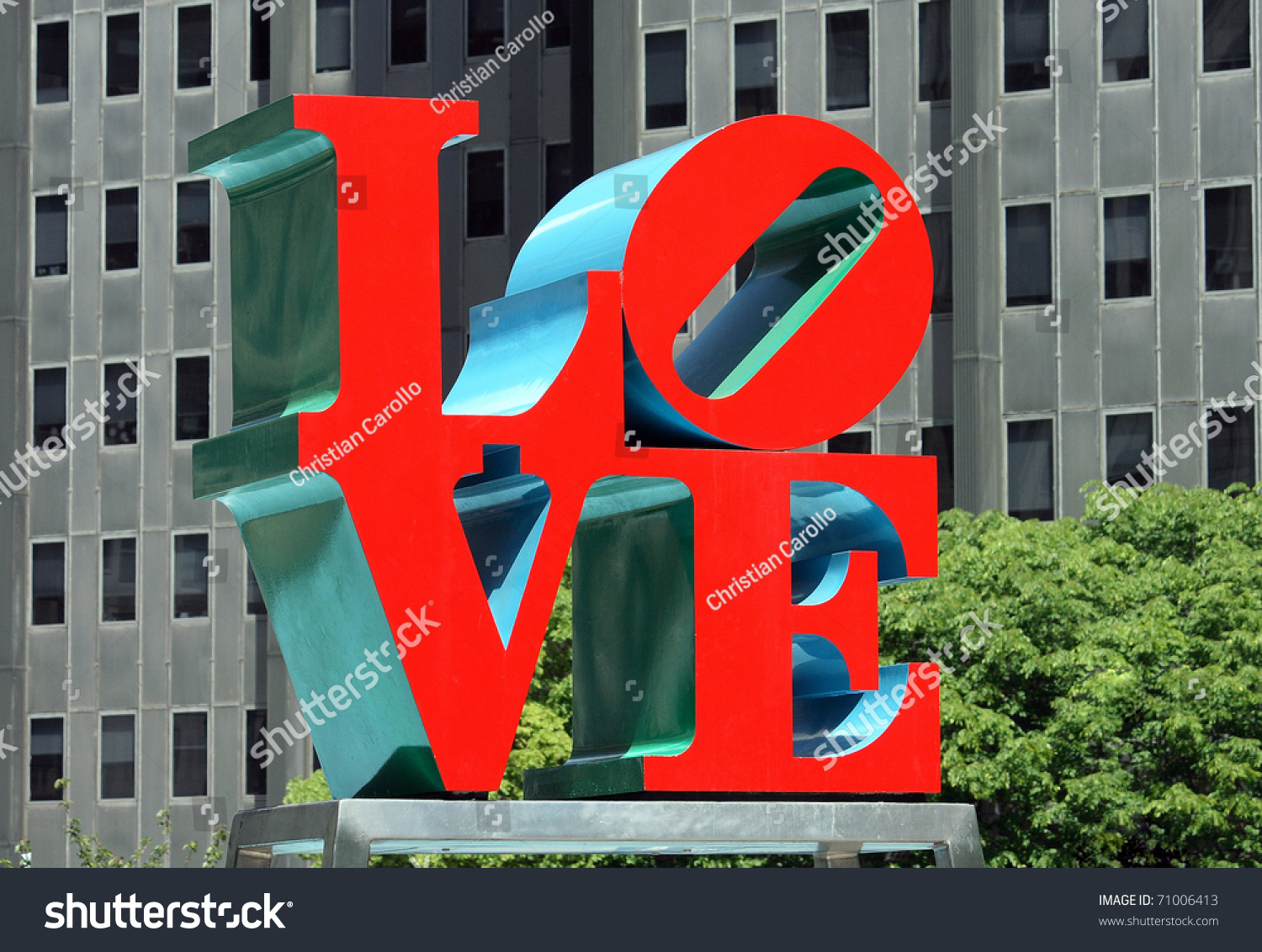 Philadelphia Sept 30 Popular Love Park Stock Photo Edit Now
