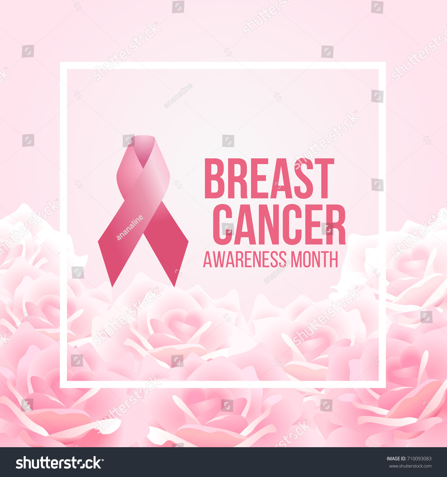 Pink Ribbon Sign Breast Cancer Awareness Stock Vector Royalty Free