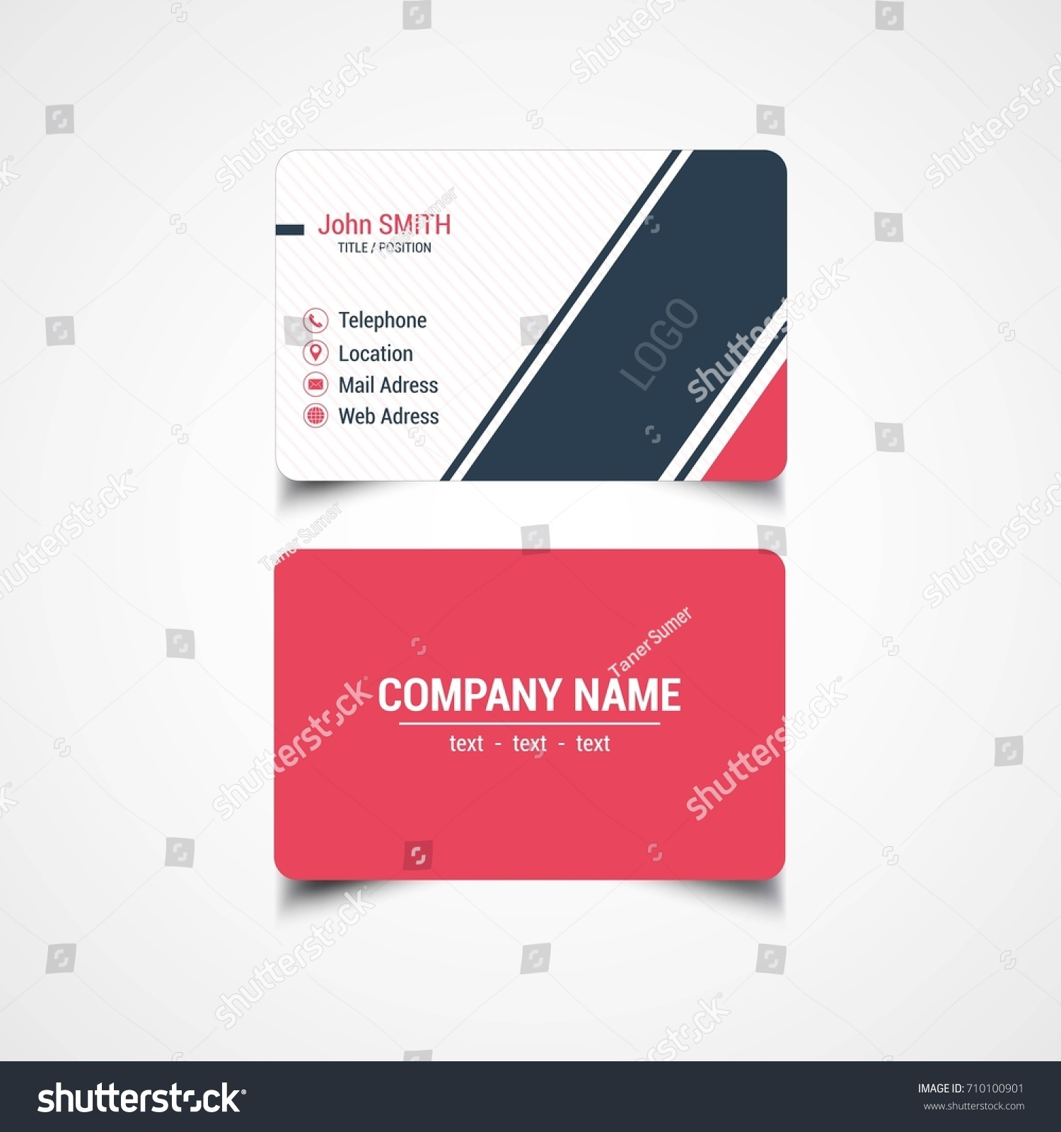 Round corner business card template vector stock vector 710100901 round corner business card template vector illustration magicingreecefo Image collections