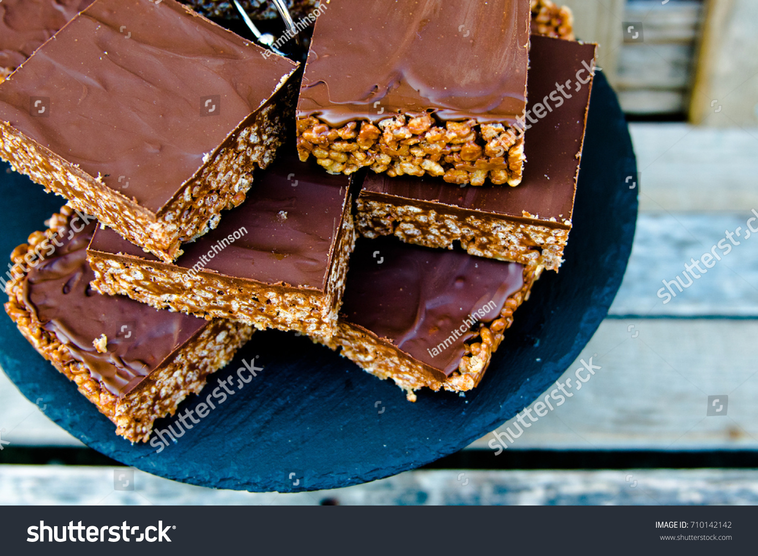 Chocolate Covered Baked Rice Cake Desert Stock Photo Edit Now Kue Brownis By Nature Cakes Bali Brownies
