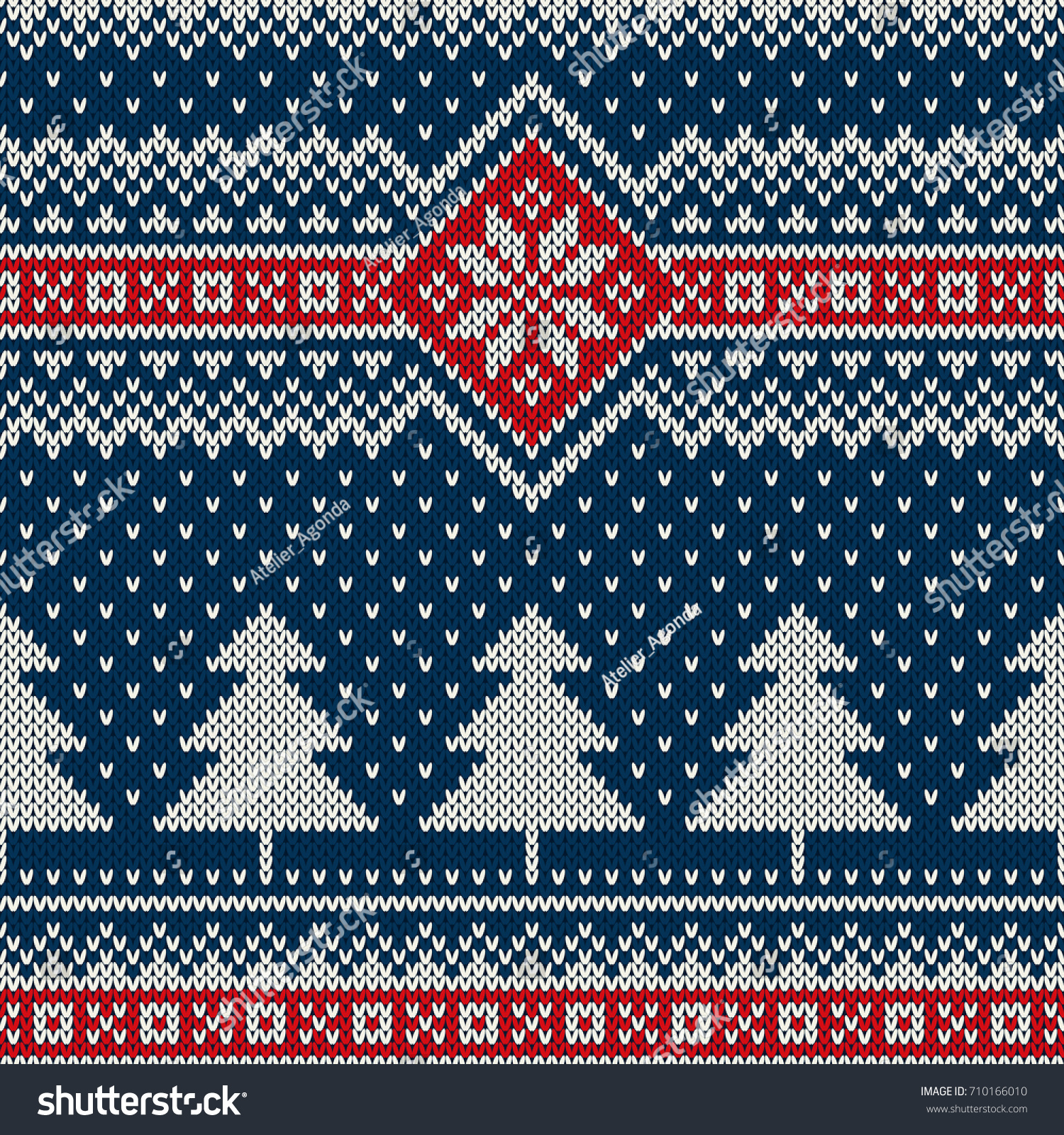 Winter Holiday Seamless Knitted Pattern Christmas Stock Vector HD ...