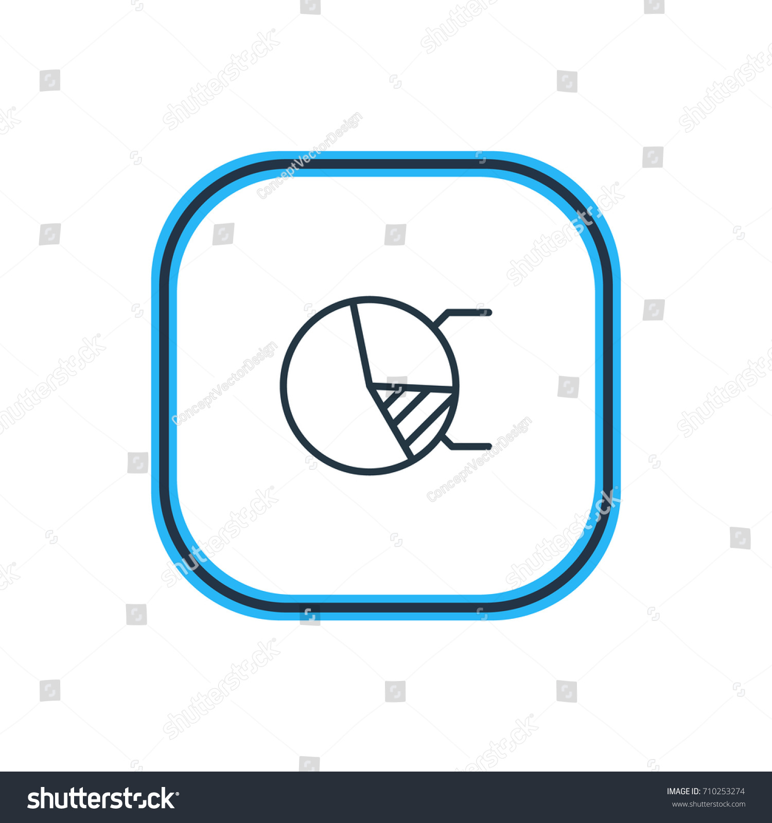 Vector illustration pie chart outline beautiful stock vector vector illustration of pie chart outline beautiful advertising element also can be used as circle nvjuhfo Image collections