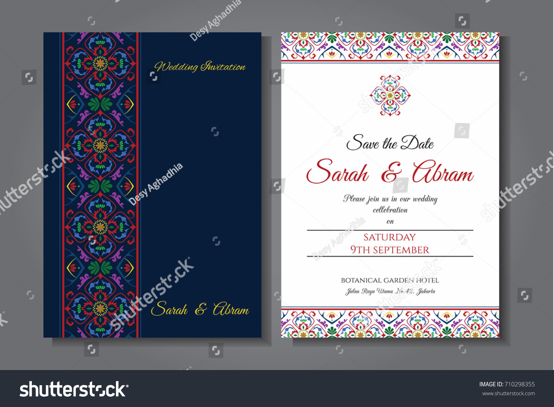 Card design oriental ornament wedding invitation stock vector card design with oriental ornament wedding invitation template vector illustration stopboris Choice Image