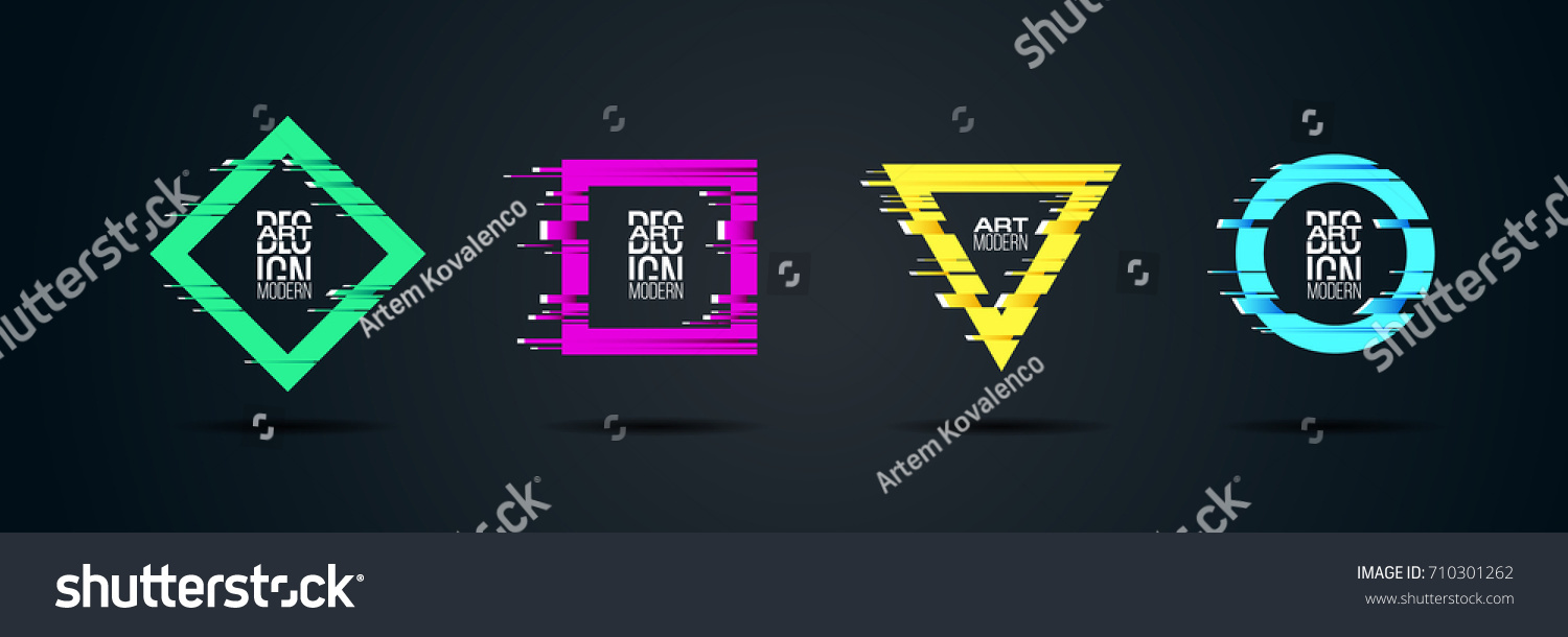 f33289998d4f16 Vector frame Art graphics for hipsters . dynamic frame stylish geometric  black background . element for