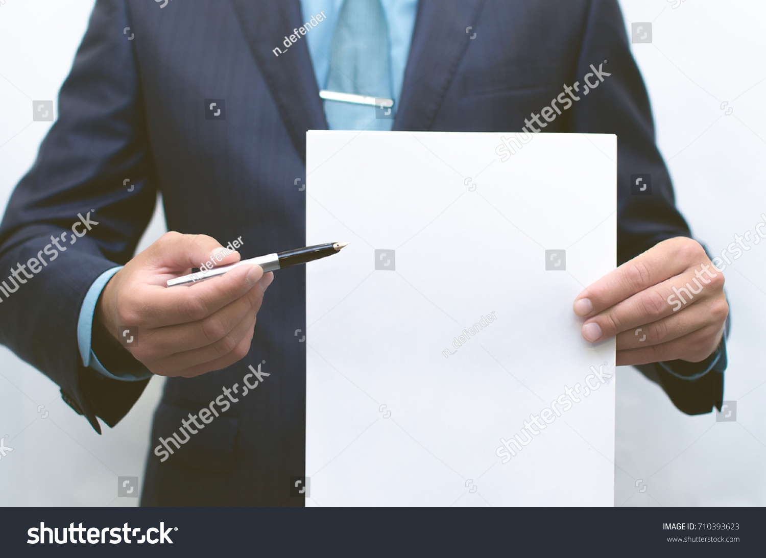 Agreement Conclusion Signing Agreement Business Man Stock Photo