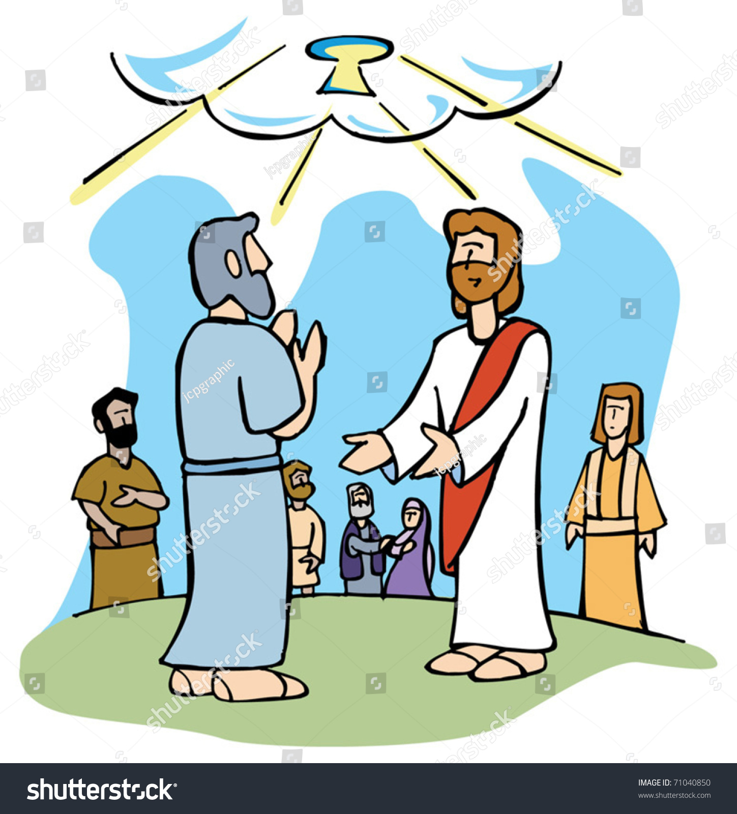 jesus and peter clipart - photo #29