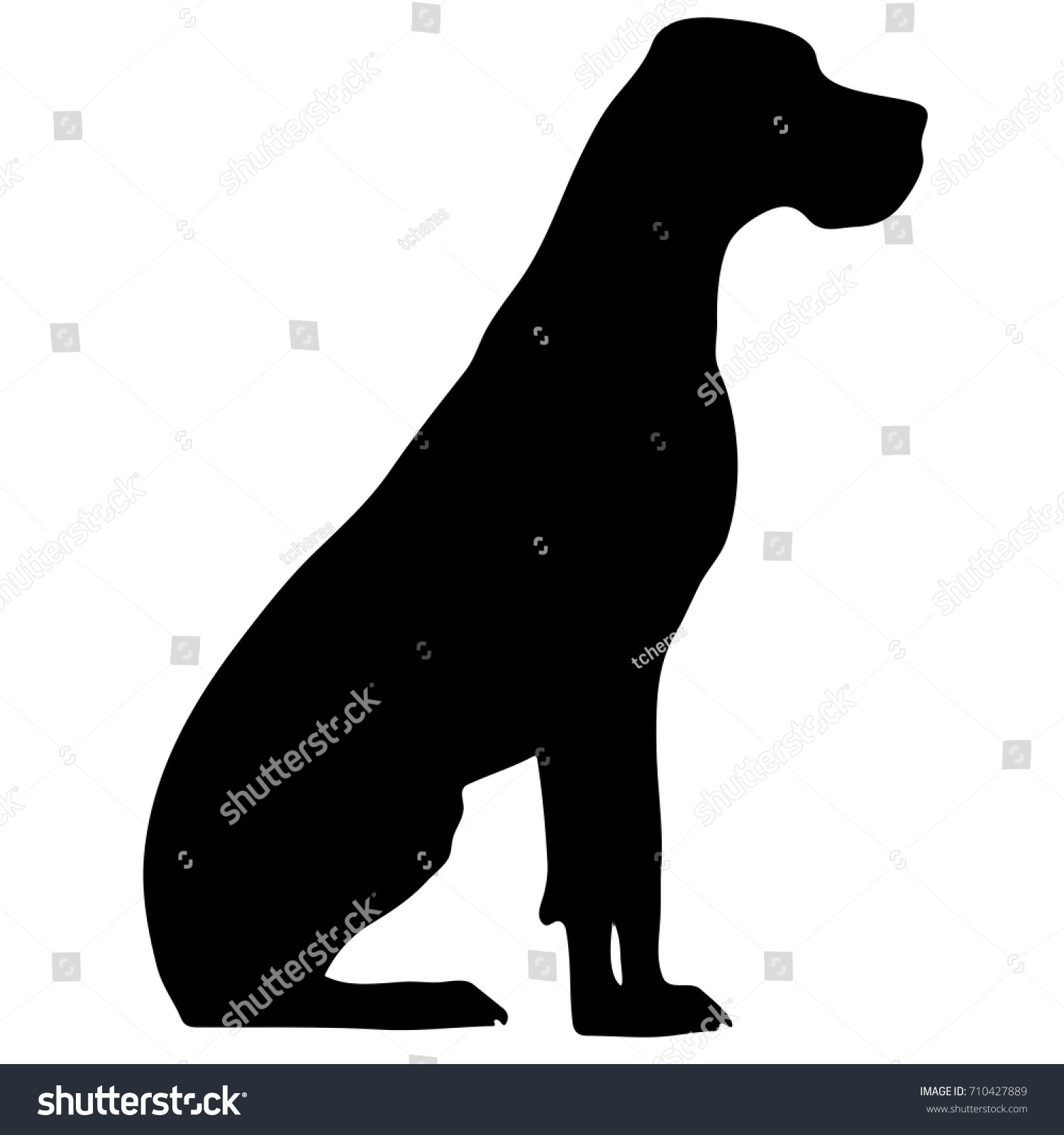 silhouette of a dogvector illustration of doberman pinscher bloodhound