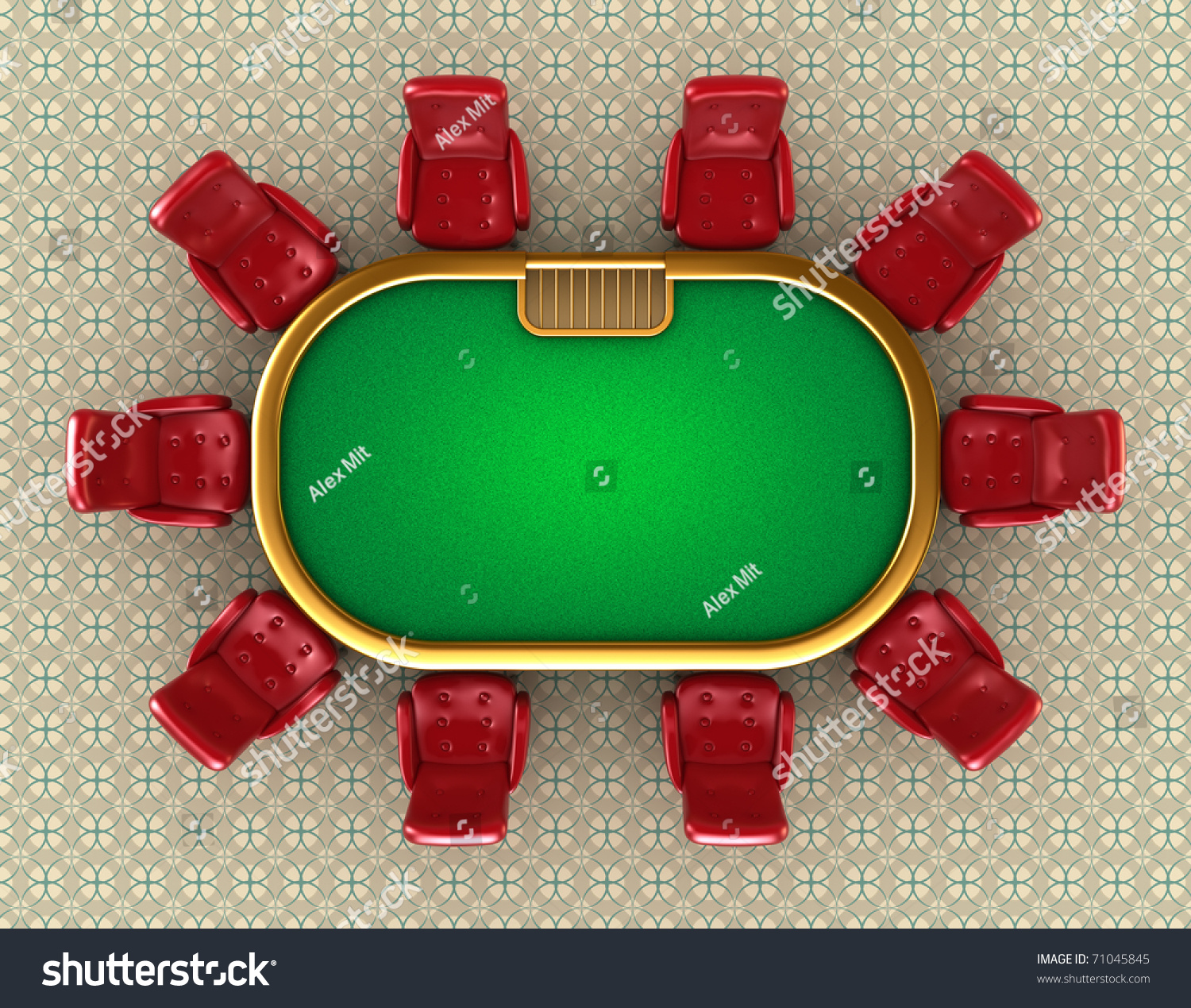 Poker table with chairs top view stock photo 71045845 shutterstock