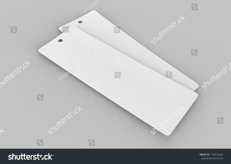Bookmark Template | White Blank Tag Bookmark Template Design Stockillustration 710474284