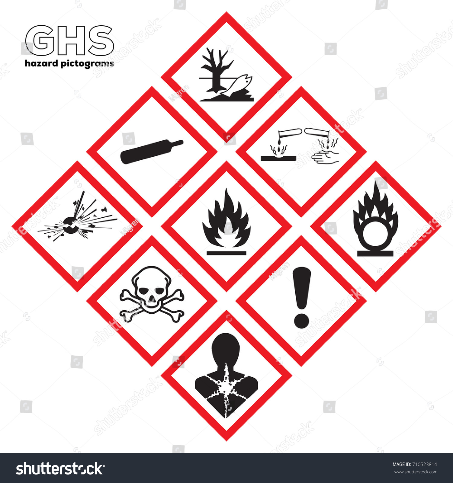Icon Ghs Danger Safety Corrosive Chemical Stock Vector Royalty Free