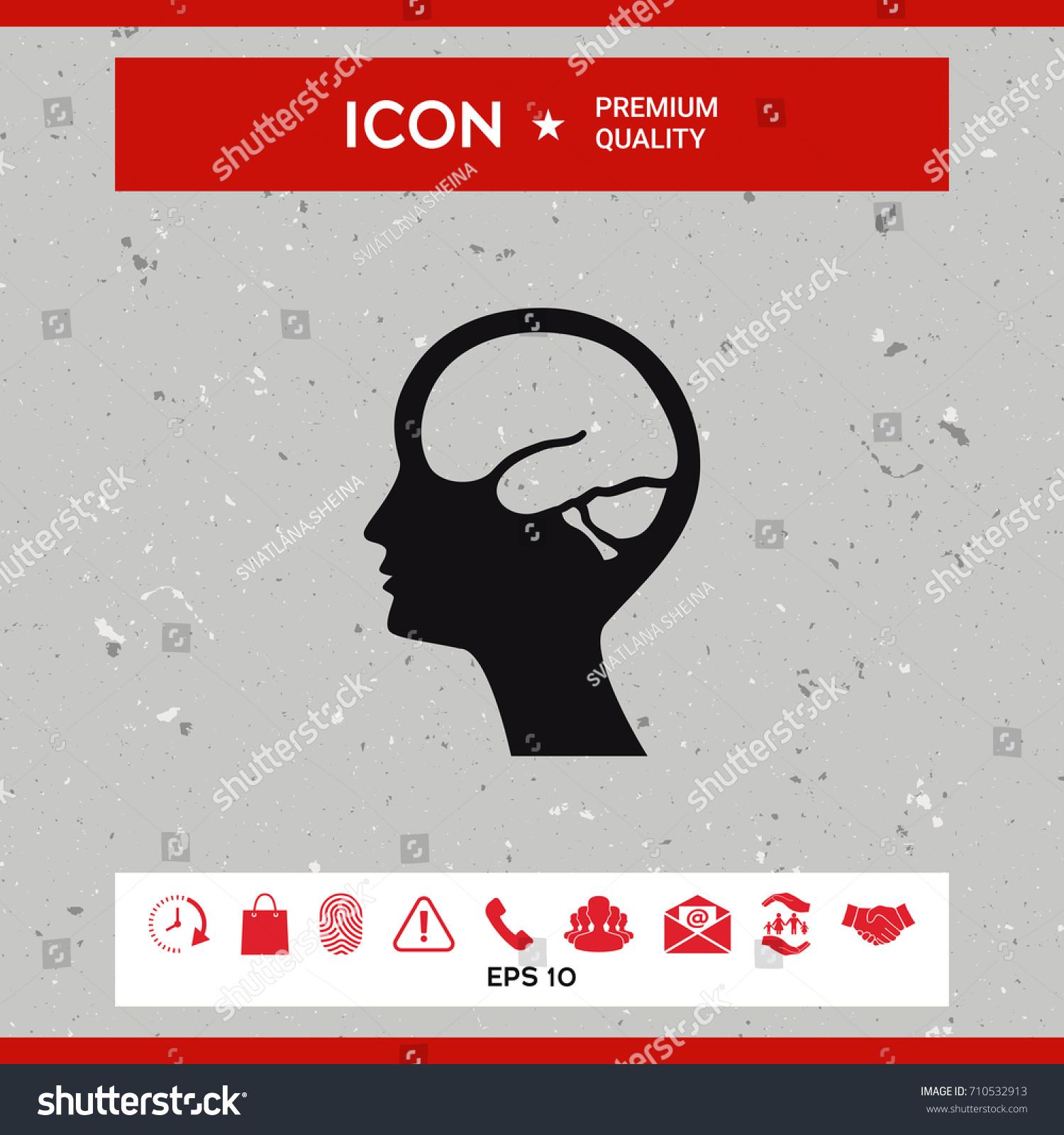 Head brain symbol icon stock vector 710532913 shutterstock biocorpaavc Images