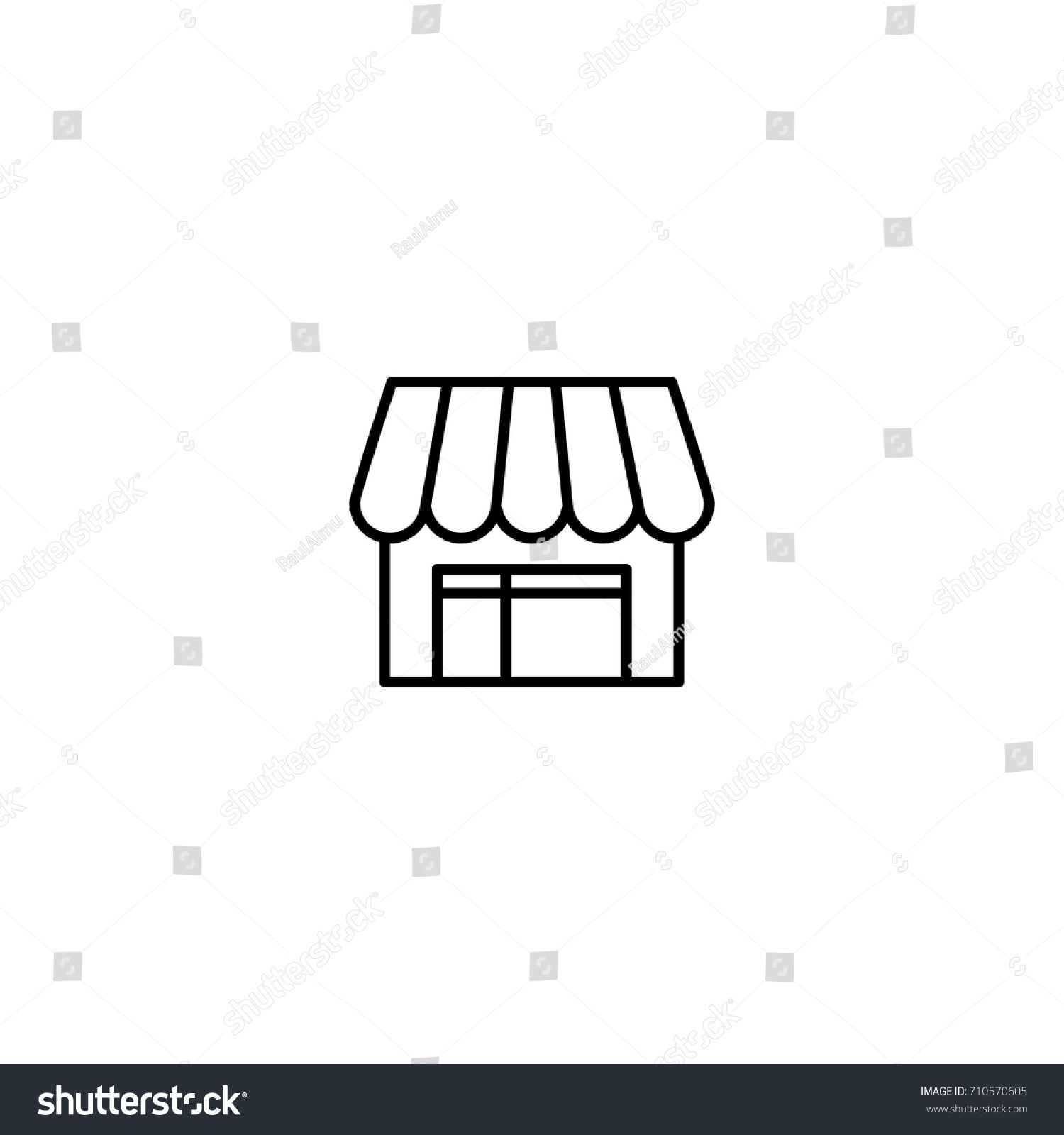 Pet Shop Flat Icon Single High Stock Vector Royalty Free 710570605