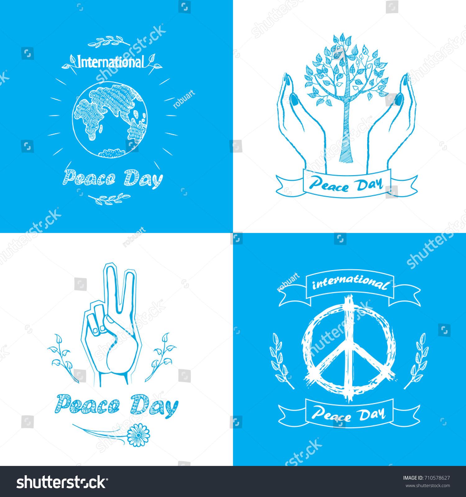 Posters international peace day vector illustration stock vector posters for international peace day vector illustration includes different love and harmony symbols as trees biocorpaavc Choice Image