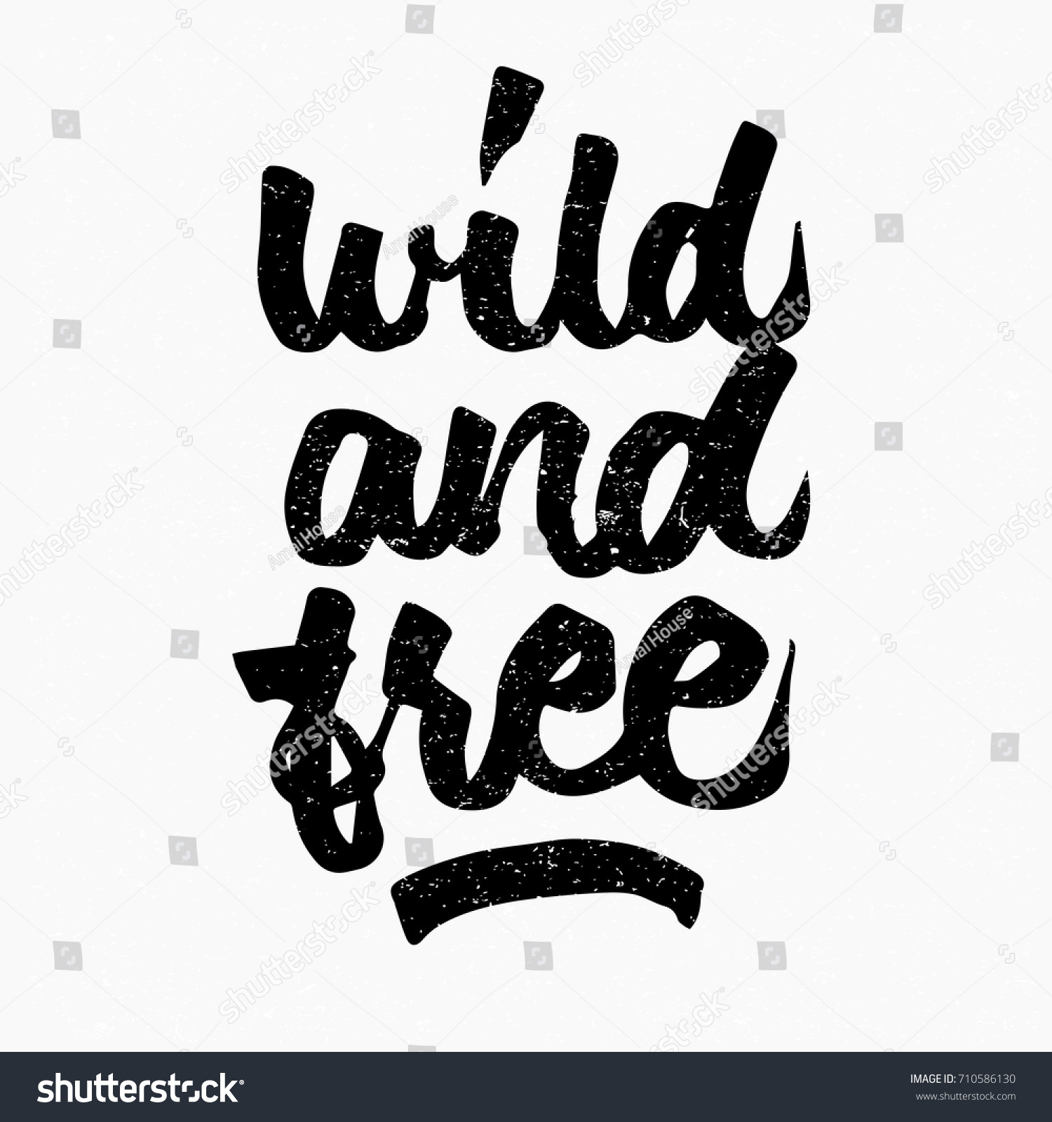 Free Quote Wild Free Quote Ink Hand Lettering Stock Vector 710586130
