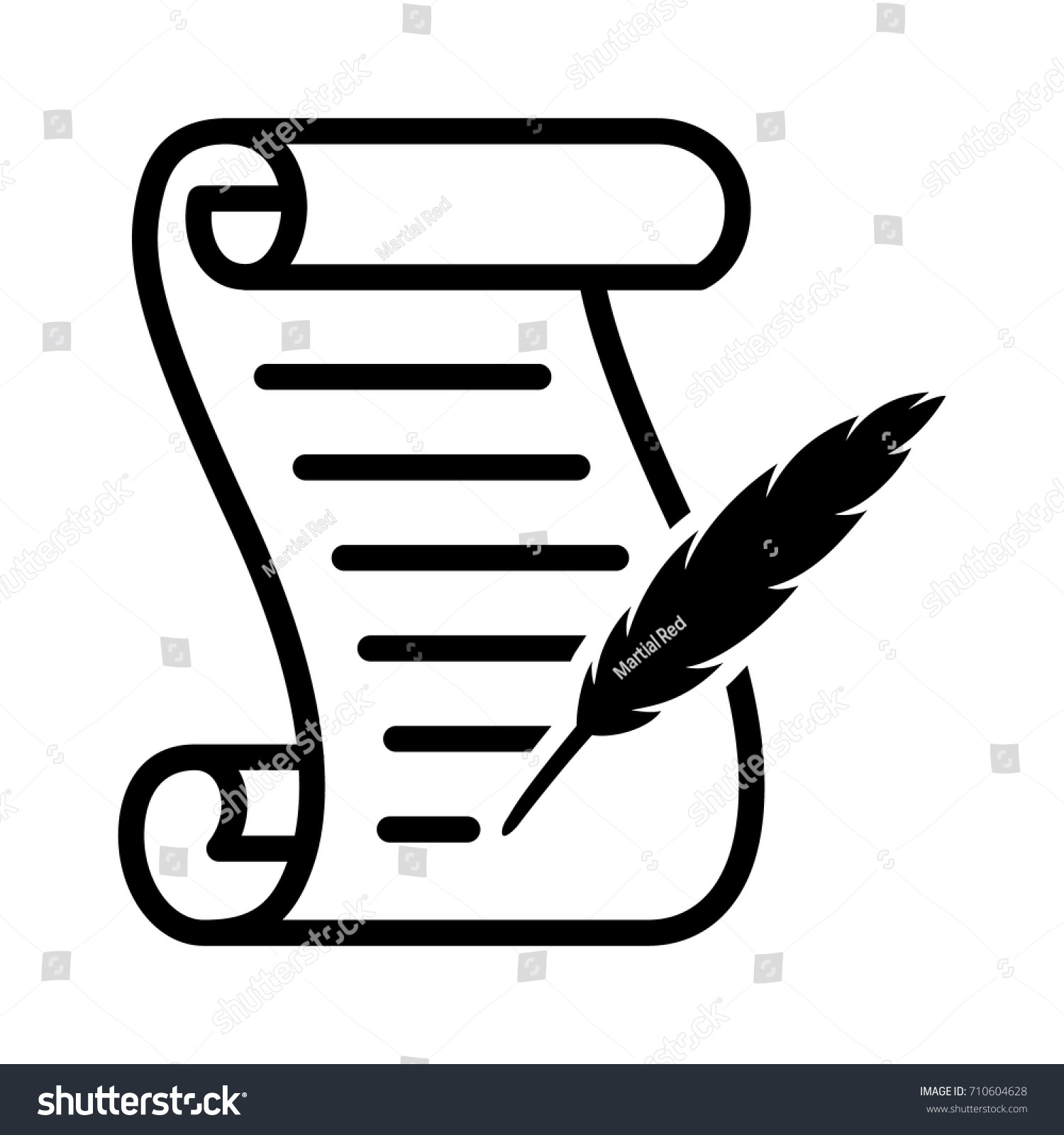scroll template to write on