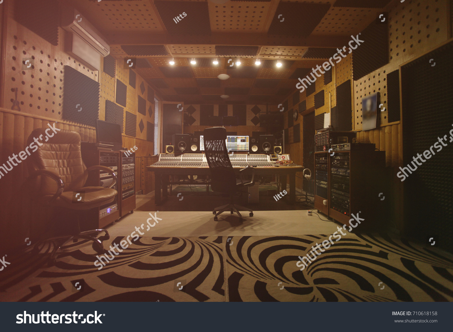 Interior of recording studio
