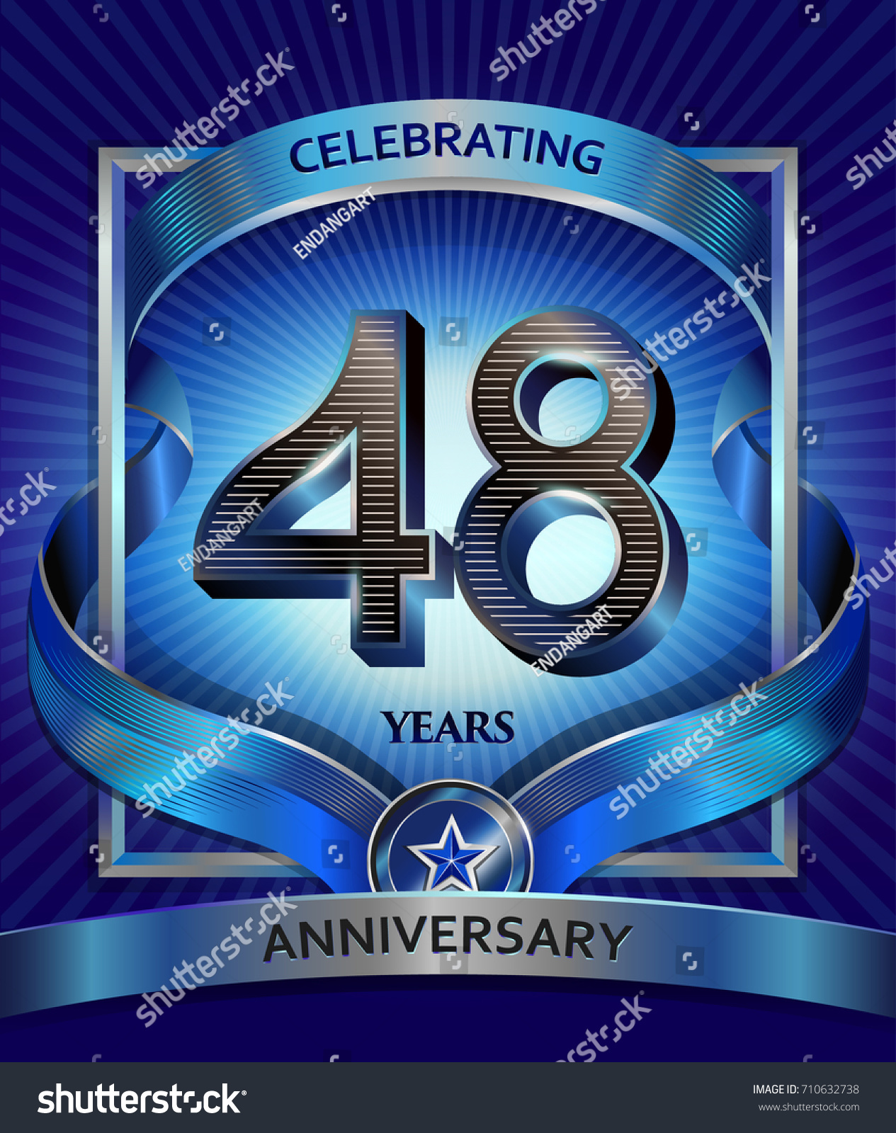 48 years anniversary design template invitation stock vector 48 years anniversary design template invitation stock vector 710632738 shutterstock stopboris Image collections