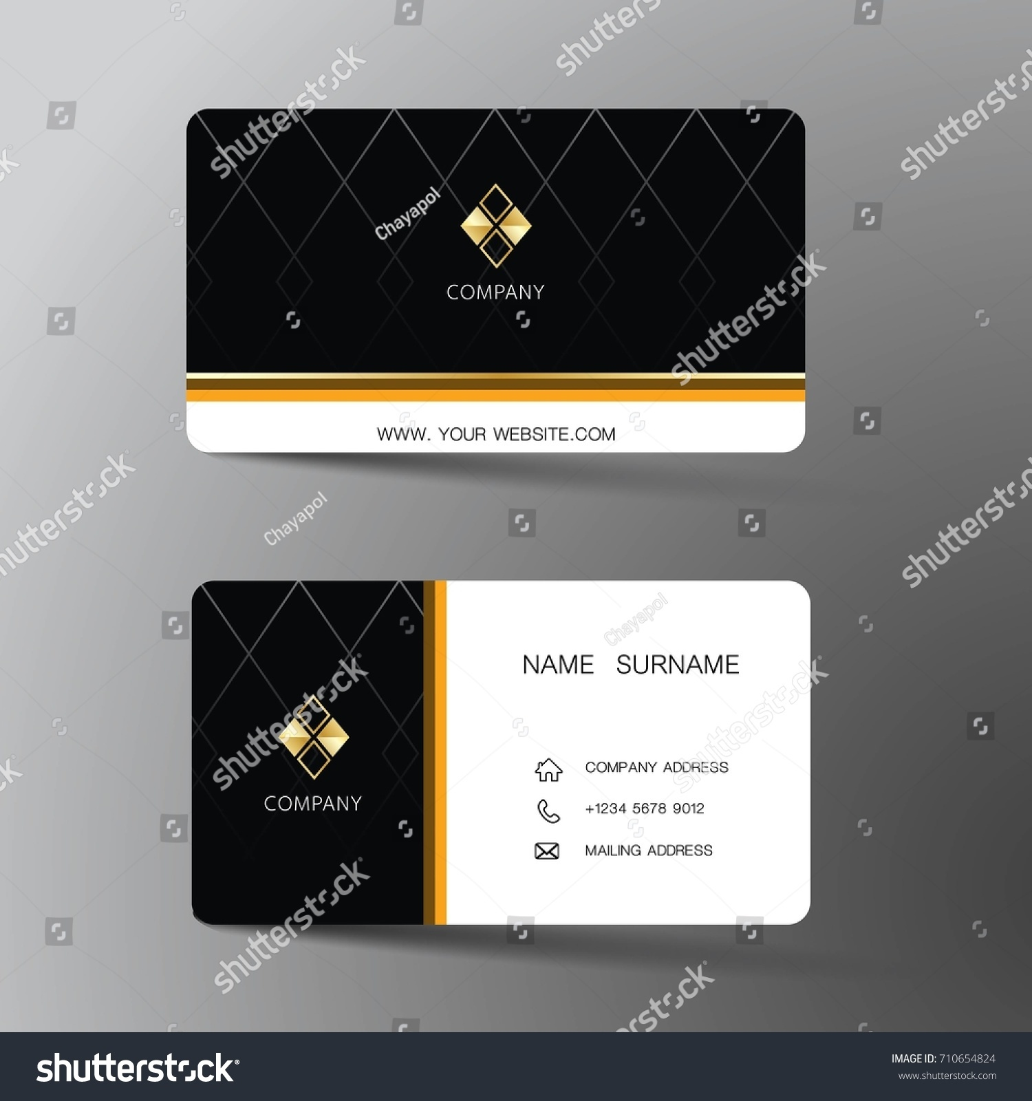 modern business card template design inspiration stock vector