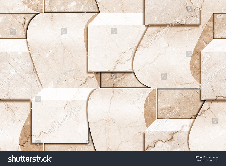 Marble Wall Tiles Kitchen Bathroom Tile Stock Illustration 710712700 ...