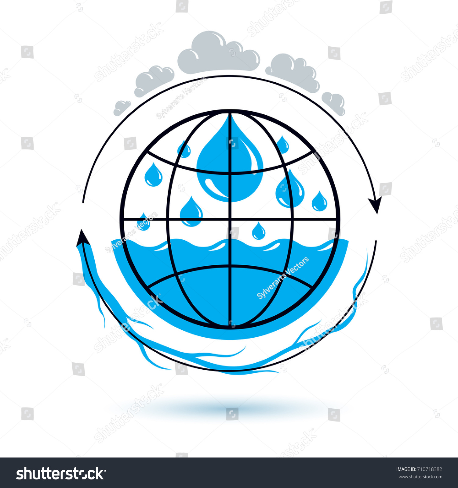 Ocean freshness theme vector symbol use stock vector 710718382 ocean freshness theme vector symbol for use in mineral water advertising human and nature harmony biocorpaavc Gallery