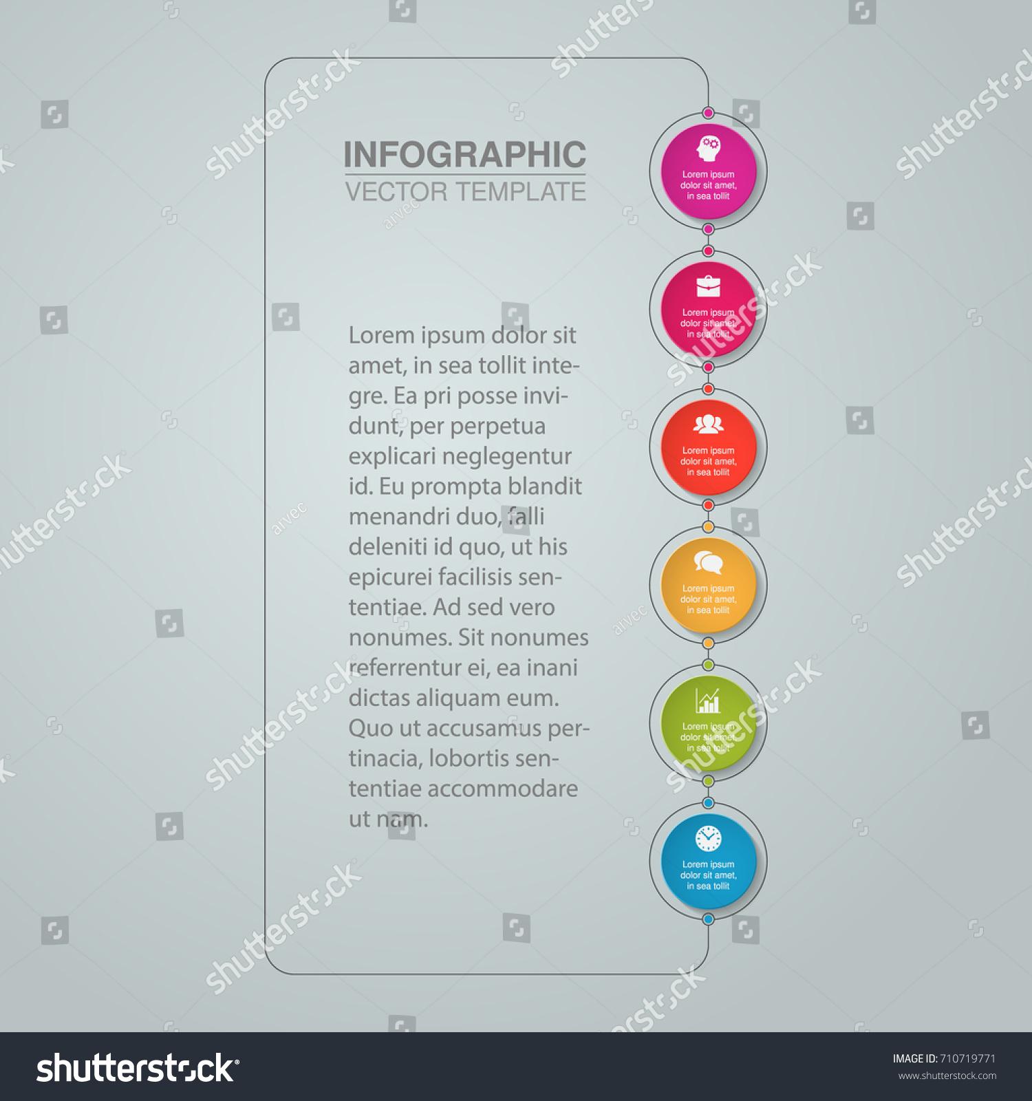 Vector Infographic Template Diagram Graph Presentation Stock Vector ...