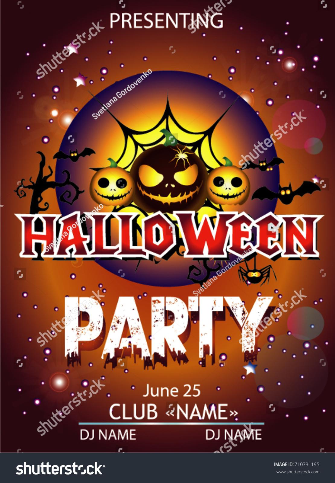 Halloween Party Cartoon Stock Vector 710731195 - Shutterstock