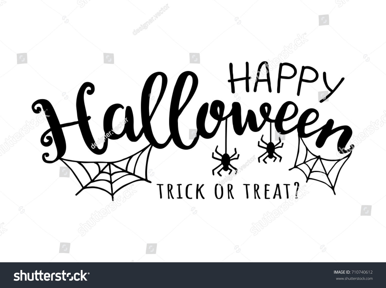 happy halloween vector illustration web spider のベクター画像素材