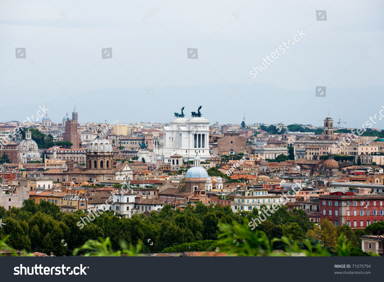 Beautiful View At Rome Buildings And Vittorio Emanuelle