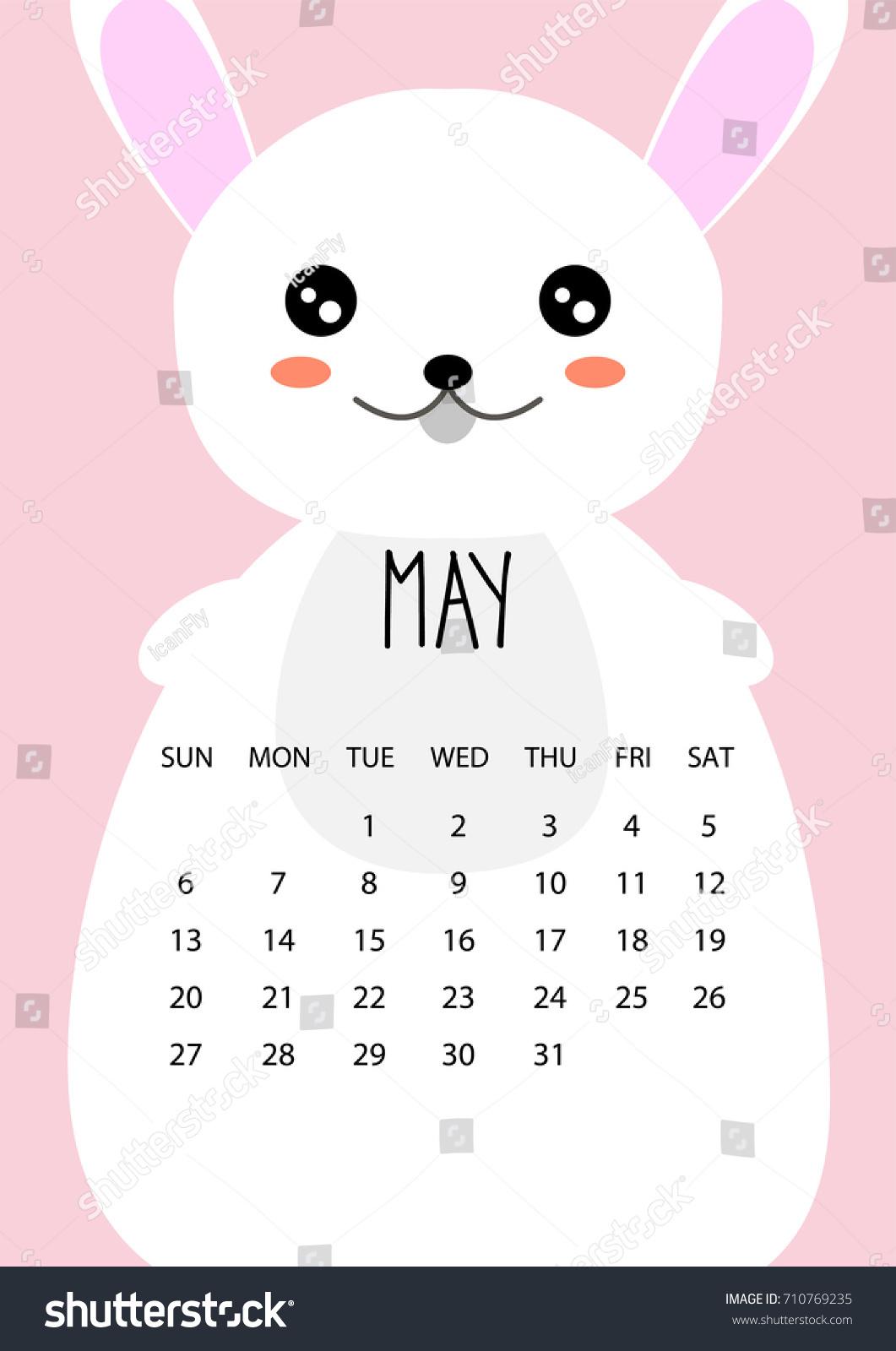 Illustration Calendar Design : Cute month calendar design year stock vector