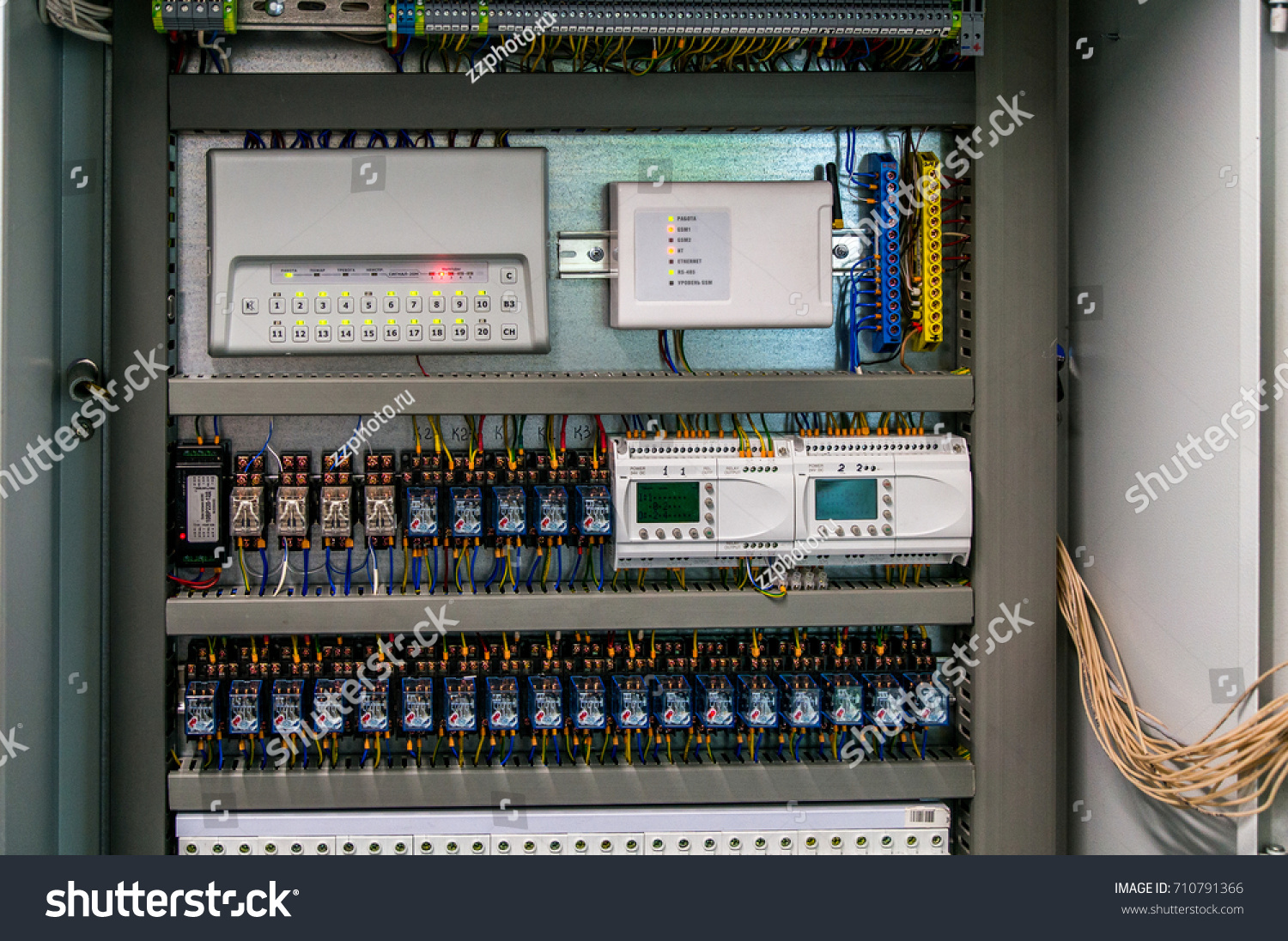 Electric Box On Gas Boiler House Stock Photo (Edit Now) 710791366 ...