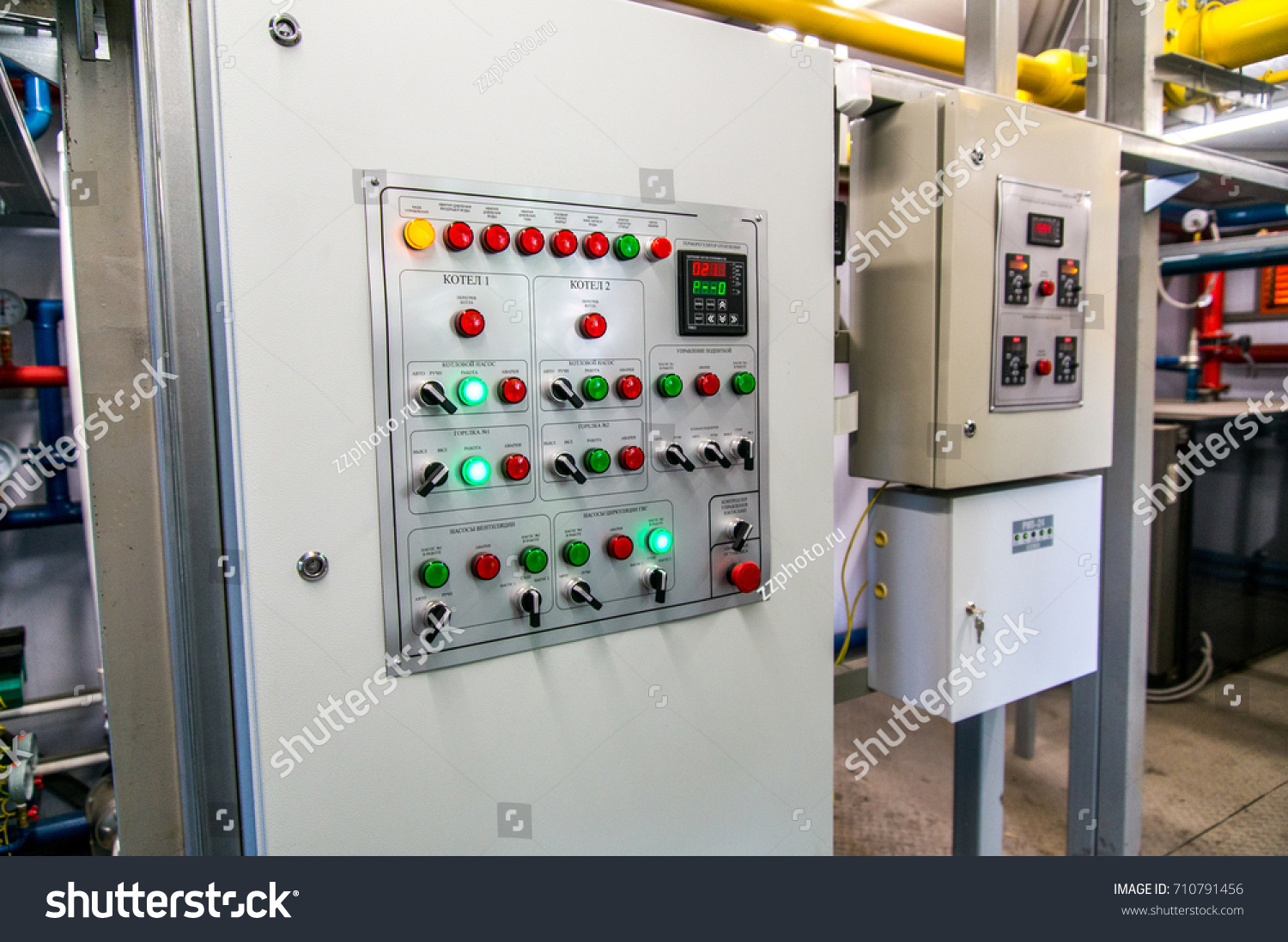 Electric Box On Gas Boiler House Stock Photo (Edit Now) 710791456 ...