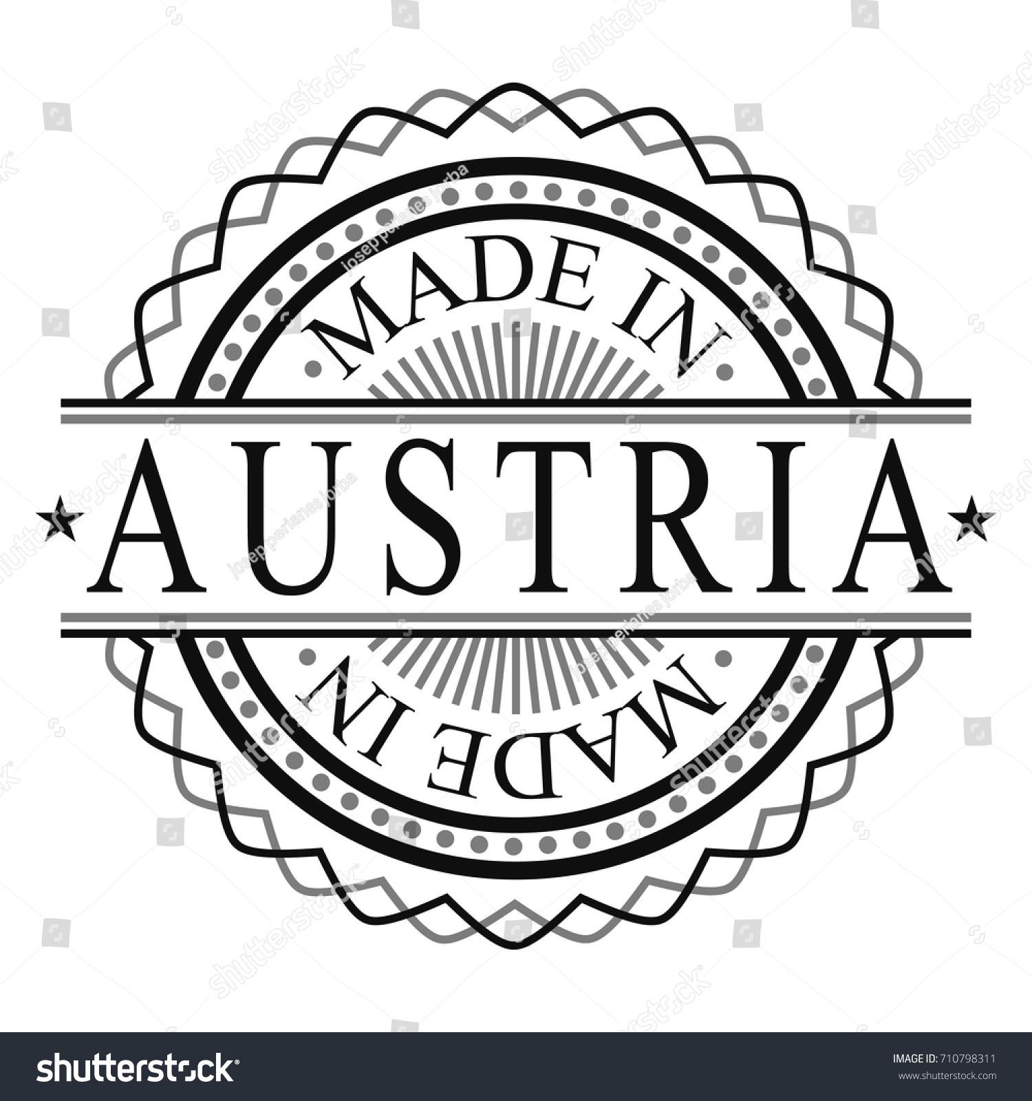 Made In Austria Stamp Logo Icon Symbol Design