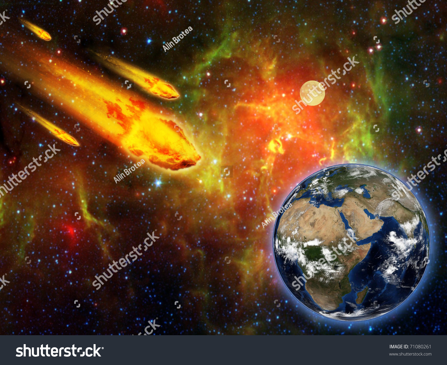 flaming asteroid hitting the earth - photo #3
