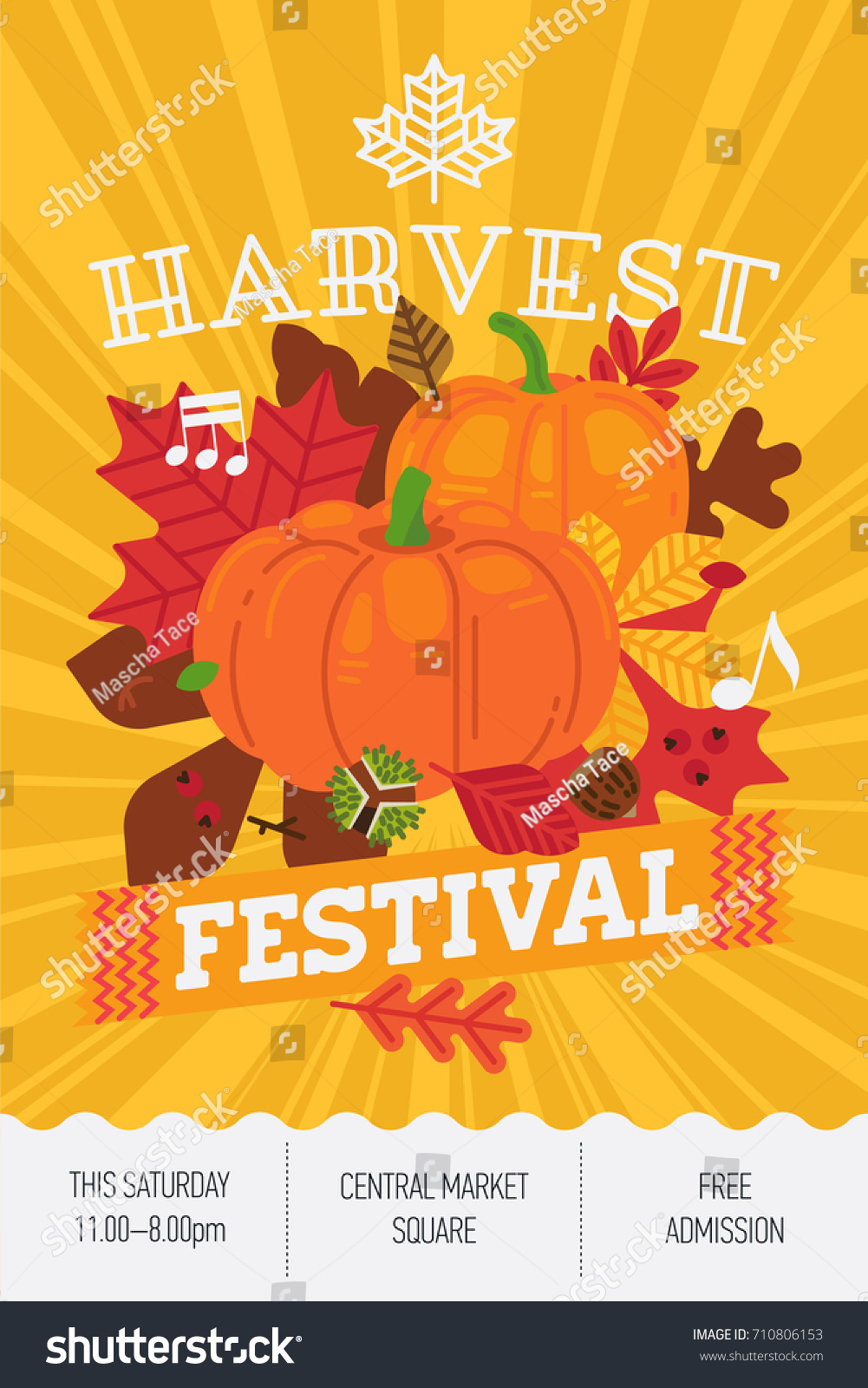harvest festival concept layout cool vector のベクター画像素材