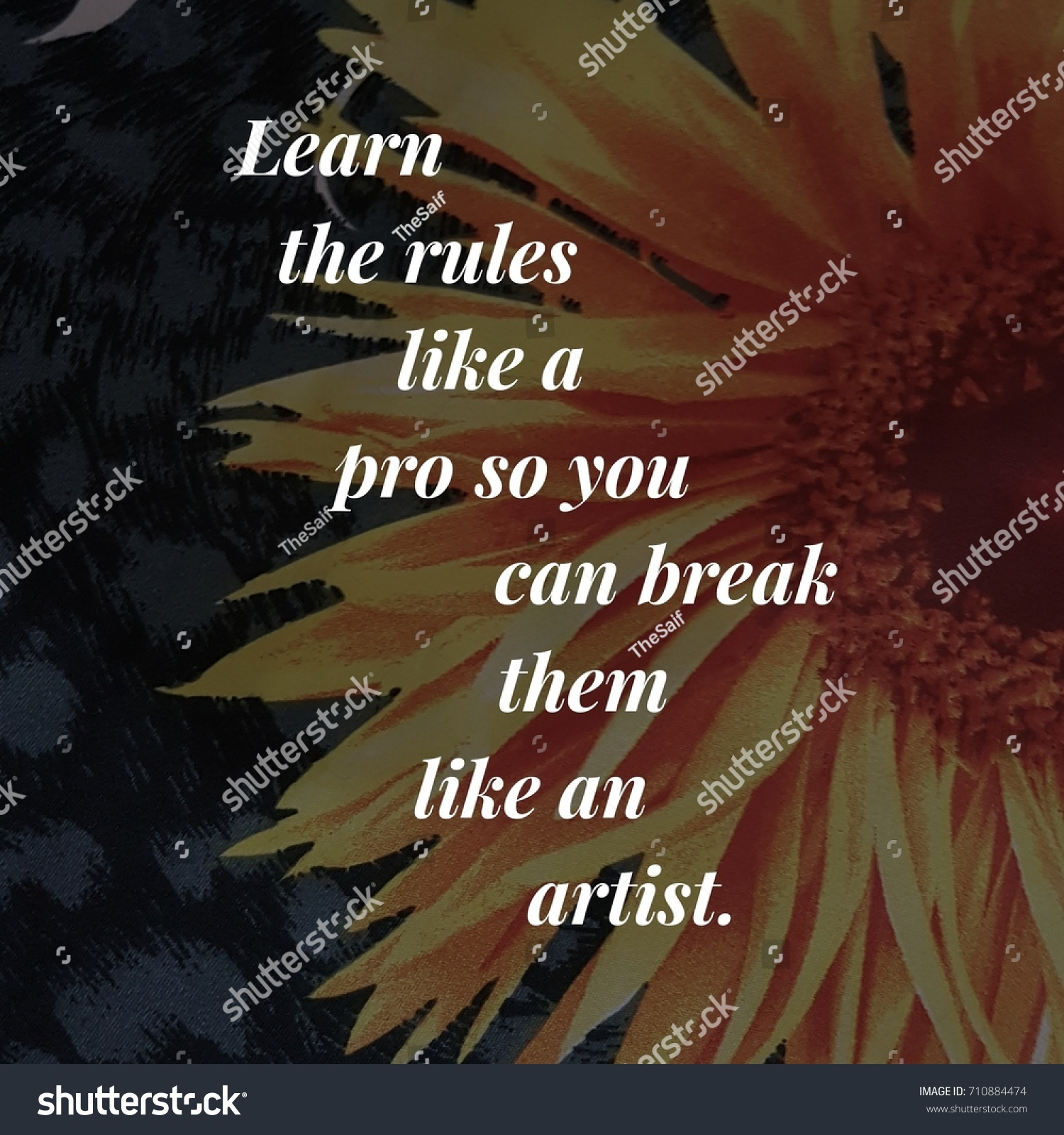 Inspiring Quotes On Life And Success Inspirational Quote About Life Success Stock Photo 710884474