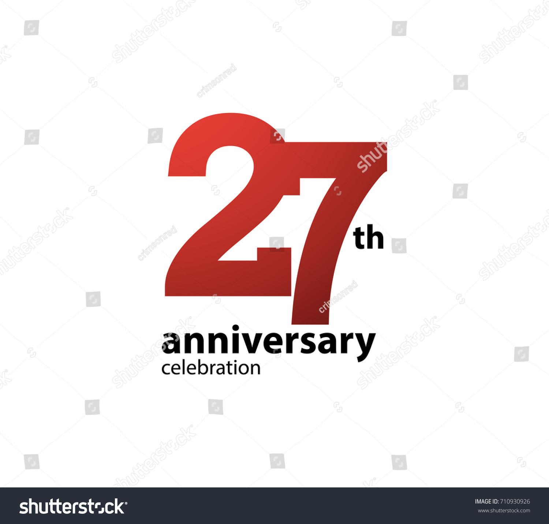 27th Anniversary Celebration Logotype Anniversary Logo Stock Vector ...